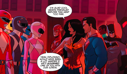The Justice League And Power Rangers Bring Out The Best In Each Other
