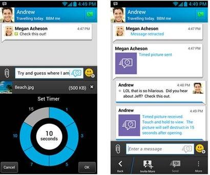 Blackberry Decides That Ephemeral Messaging Will Save BBM