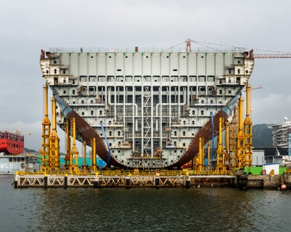 Pictures Of The World's Biggest Ever Ship Being Built