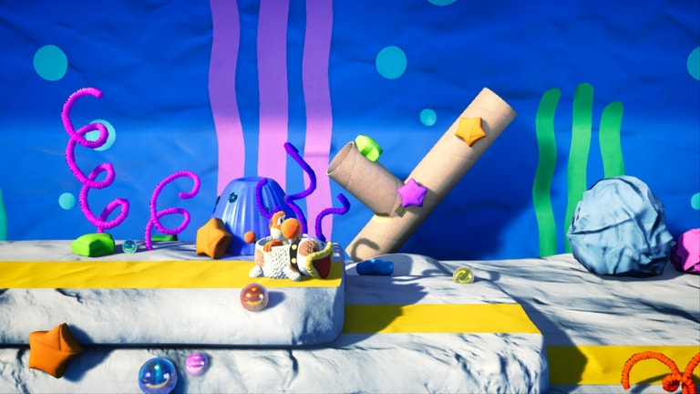 Yoshi的精雕细琢的世界看起来很华丽