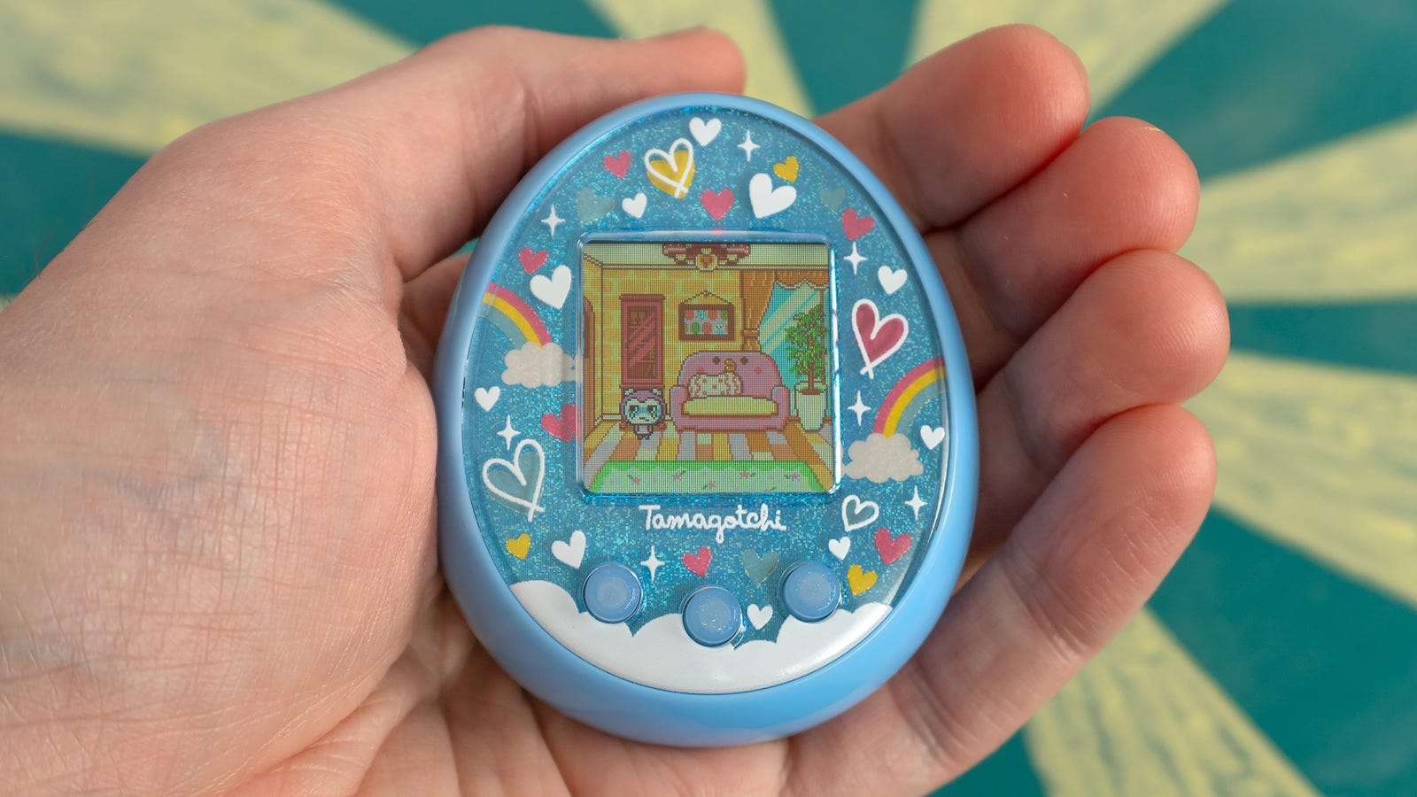 The most obvious change with Tamagotchi On is that it's grown significantly and is going to demand a large chunk of your pocket.