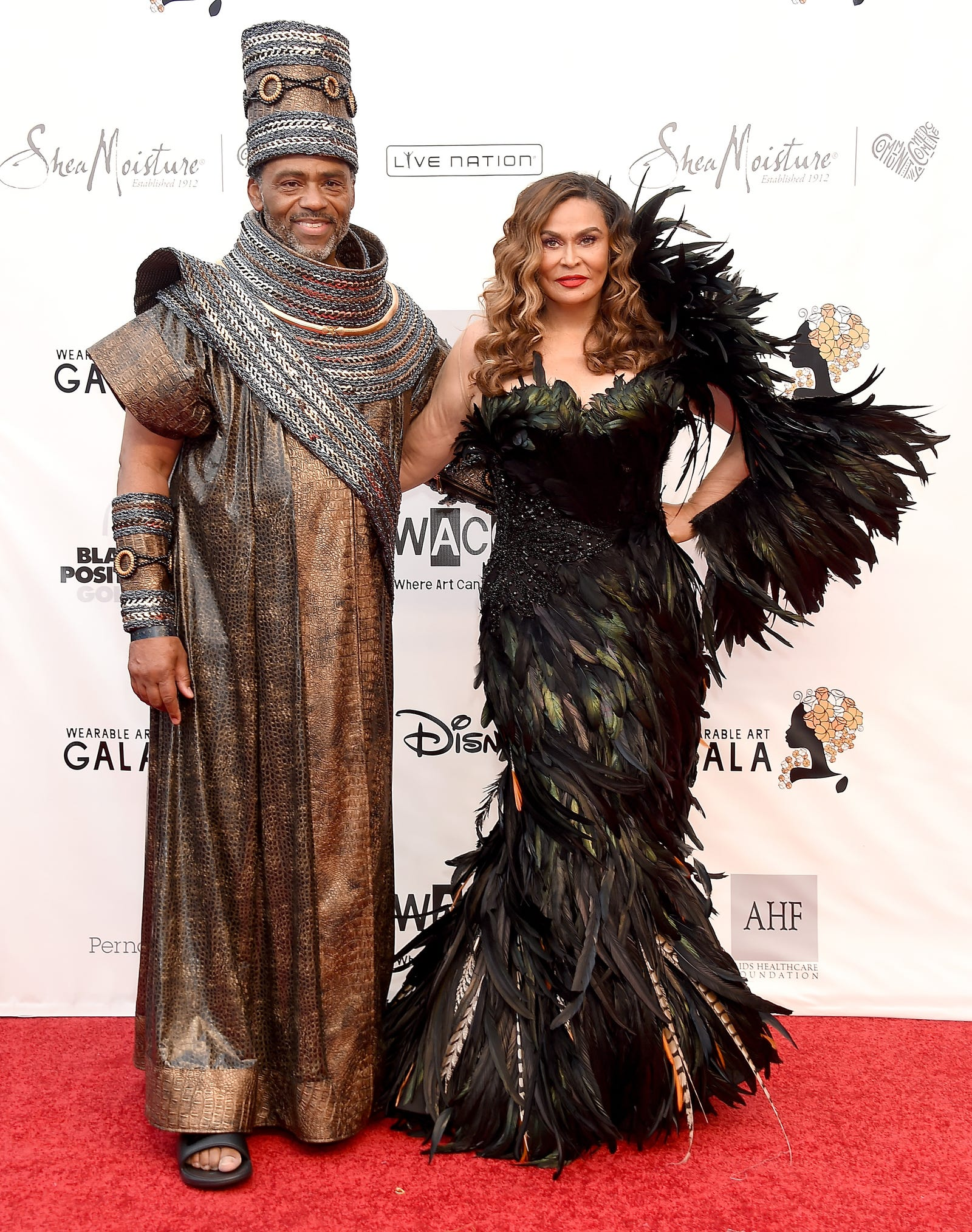 Richard Lawson, left, and Tina Knowles Lawson