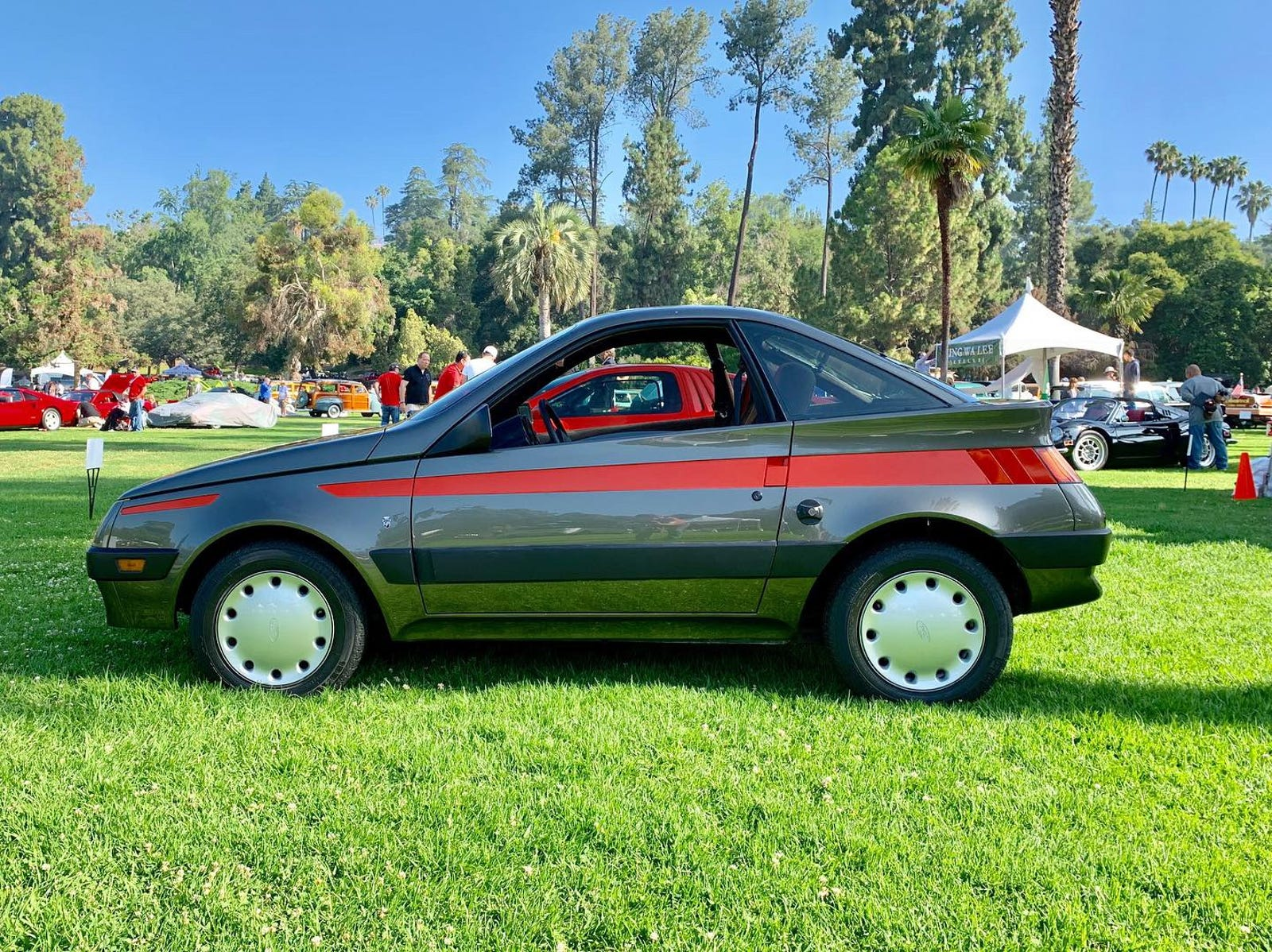 This is the 1982 Ghia Shuttler and it's always been a favorite of mine so it was a thrill to see it in person. This is like the most perfect car design ever.