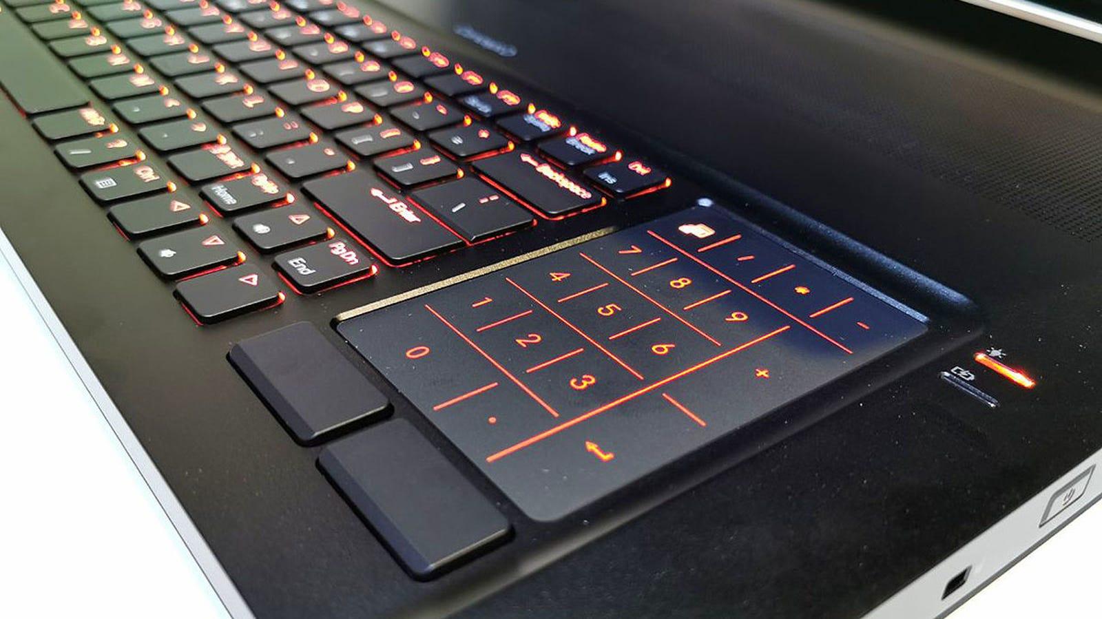 El Touchpad en modo teclado alfanumérico.