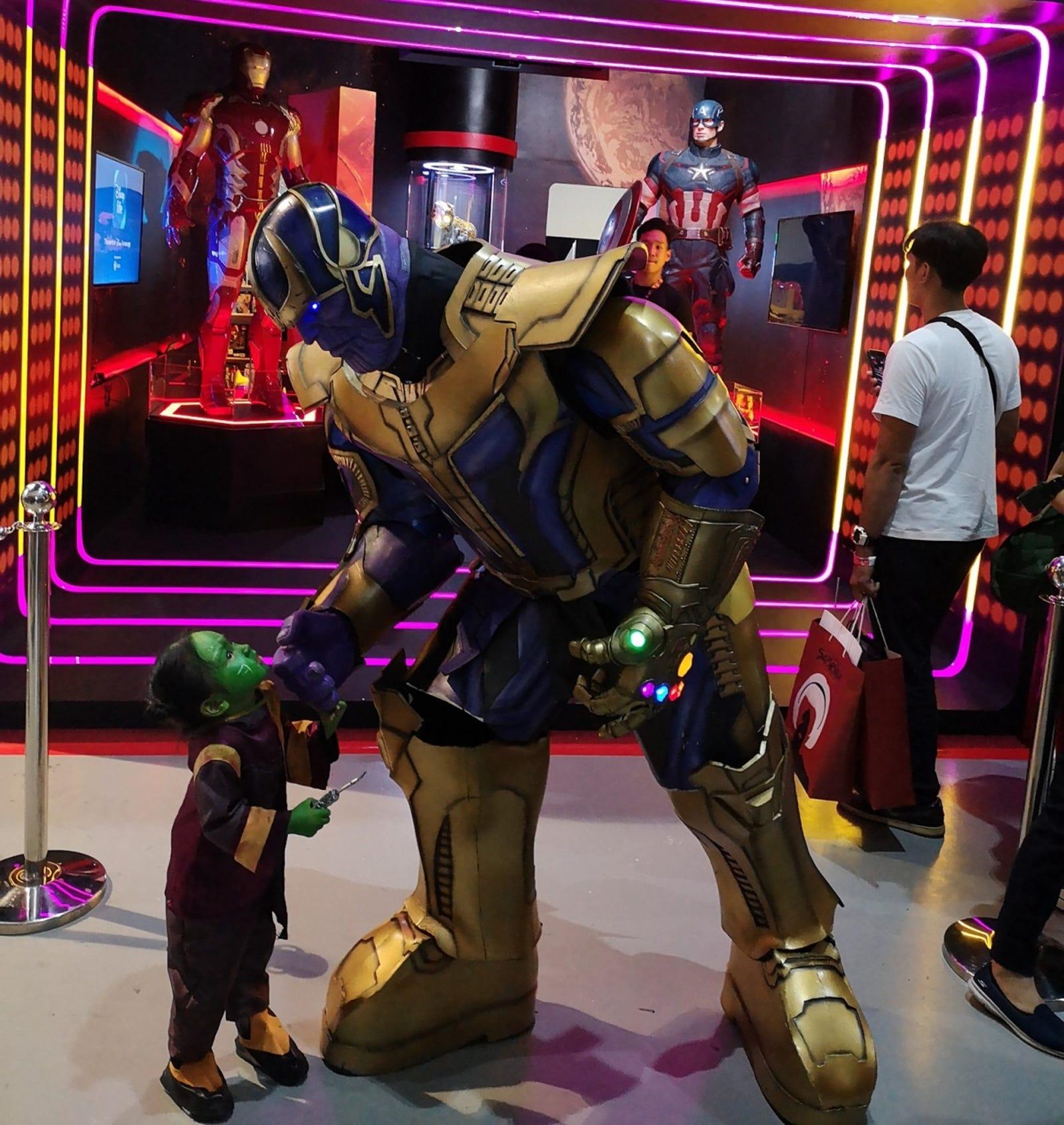 Wreidyl Denorte, as Thanos, cosplays with his daughter Shay.