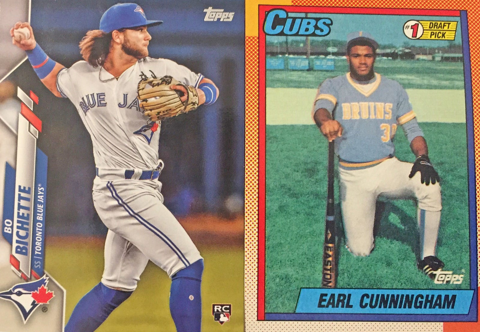 Illustration for article titled Parallel Lives: Opening Topps Packs From 1990 and 2020 Side by Side