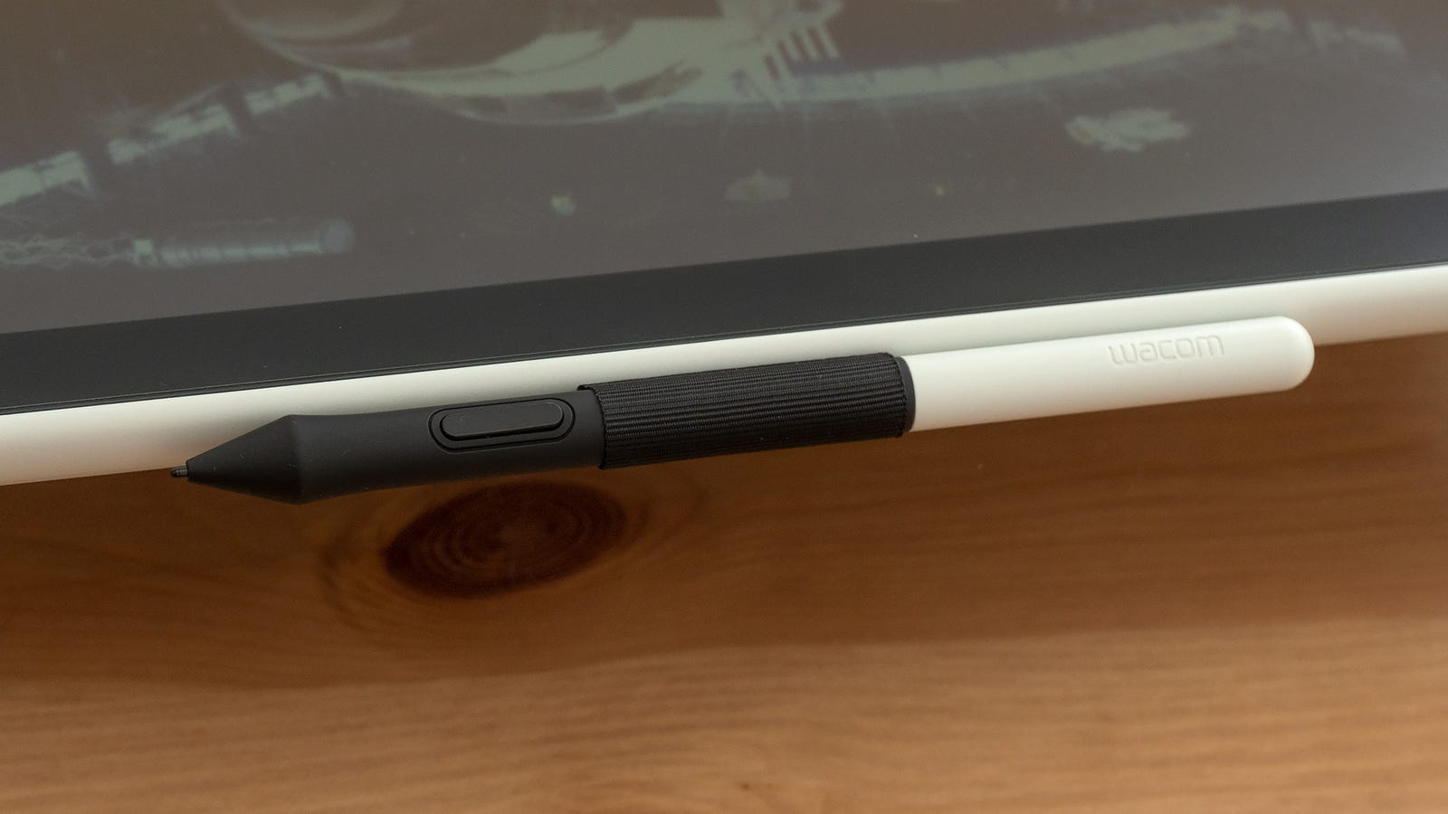 A fabric loop for securing the stylus is basic, but it gets the job done.