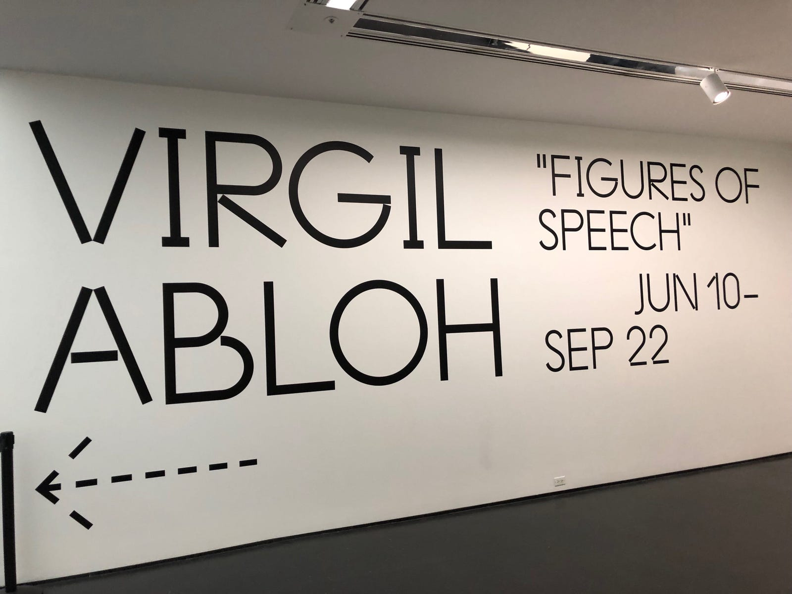 Illustration for article titled iFigures of Speech/i: With His 1st Museum Exhibition, Virgil Abloh Says 'I Was Speaking About Race the Whole Time'