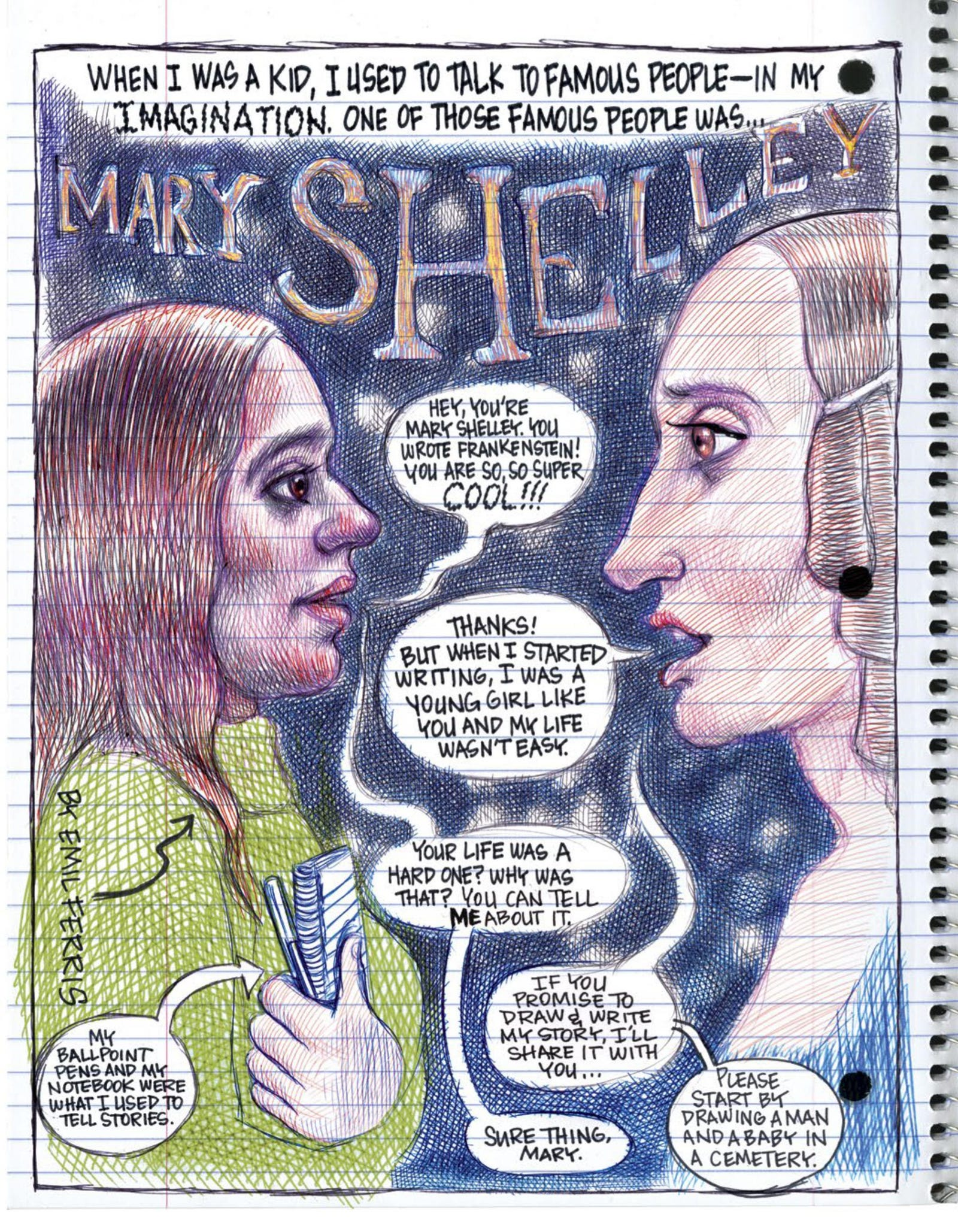 Our full preview of the Mary Shelley chapter of Noisemakers.