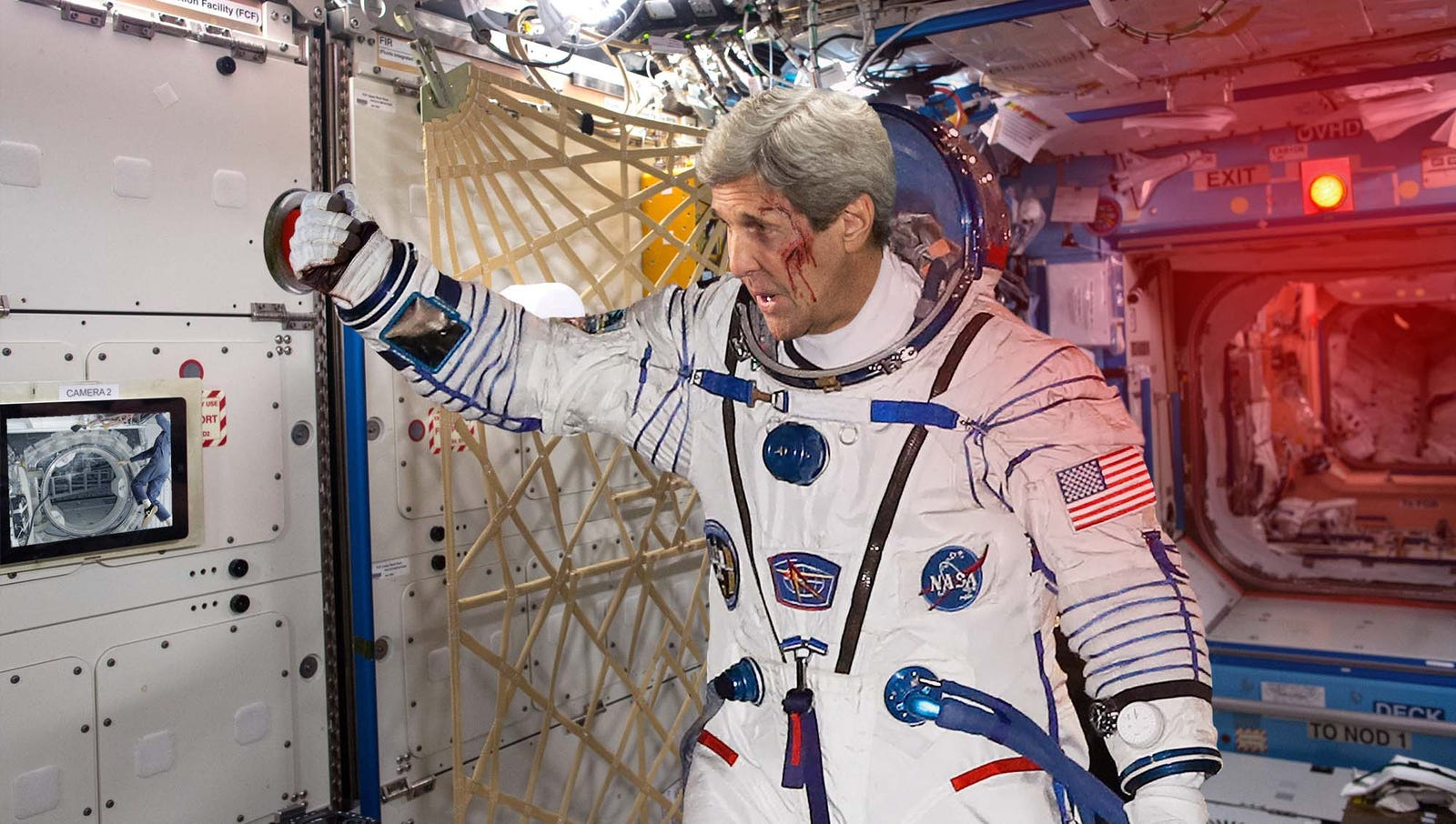 John Kerry Jettisons Russian Henchmen From International Space Station Airlock
