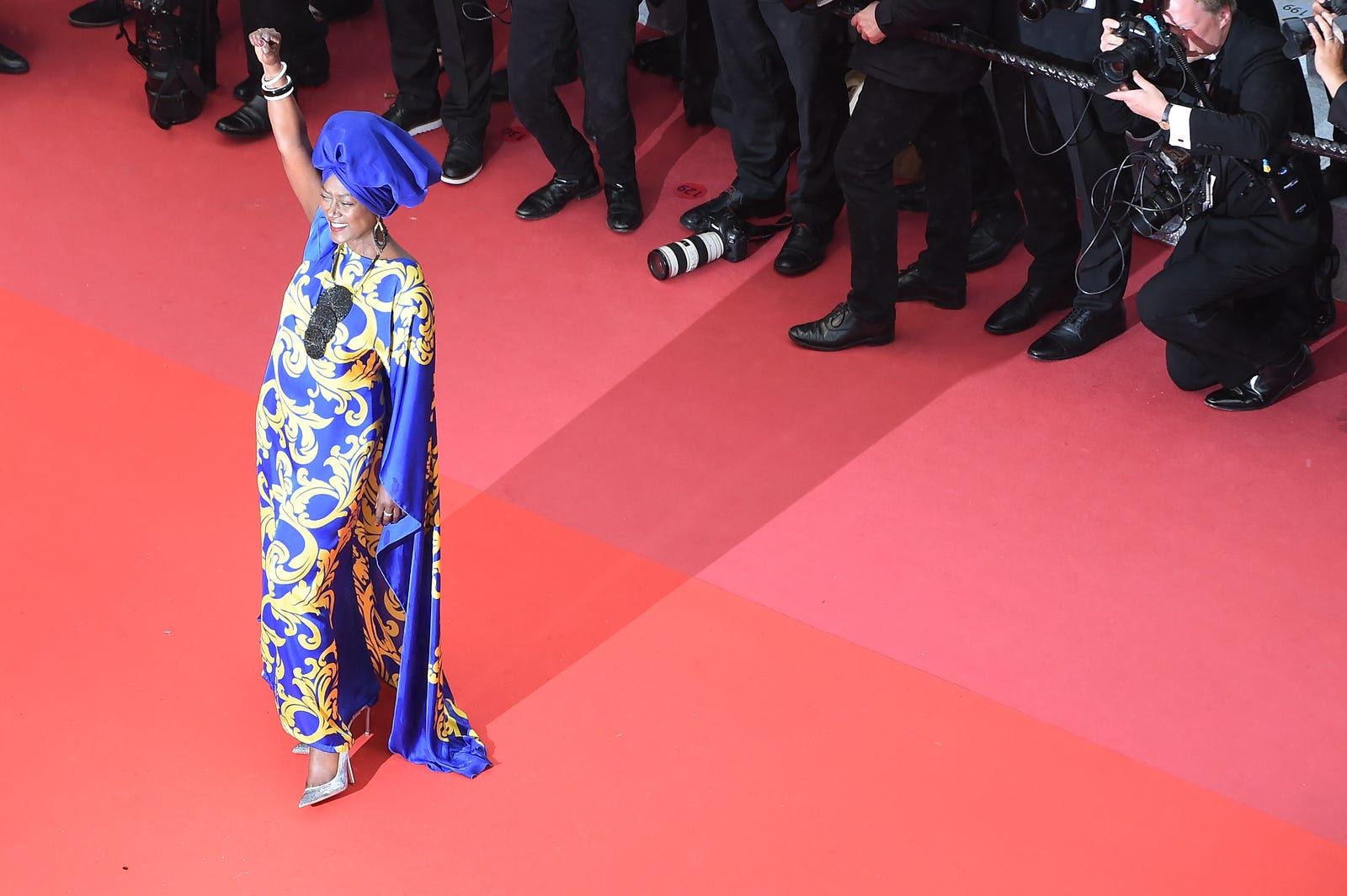 Jury member Khadja Nin attends the screening of Burning during the 71st annual Cannes Film Festival at Palais des Festivals on May 16, 2018, in Cannes, France.