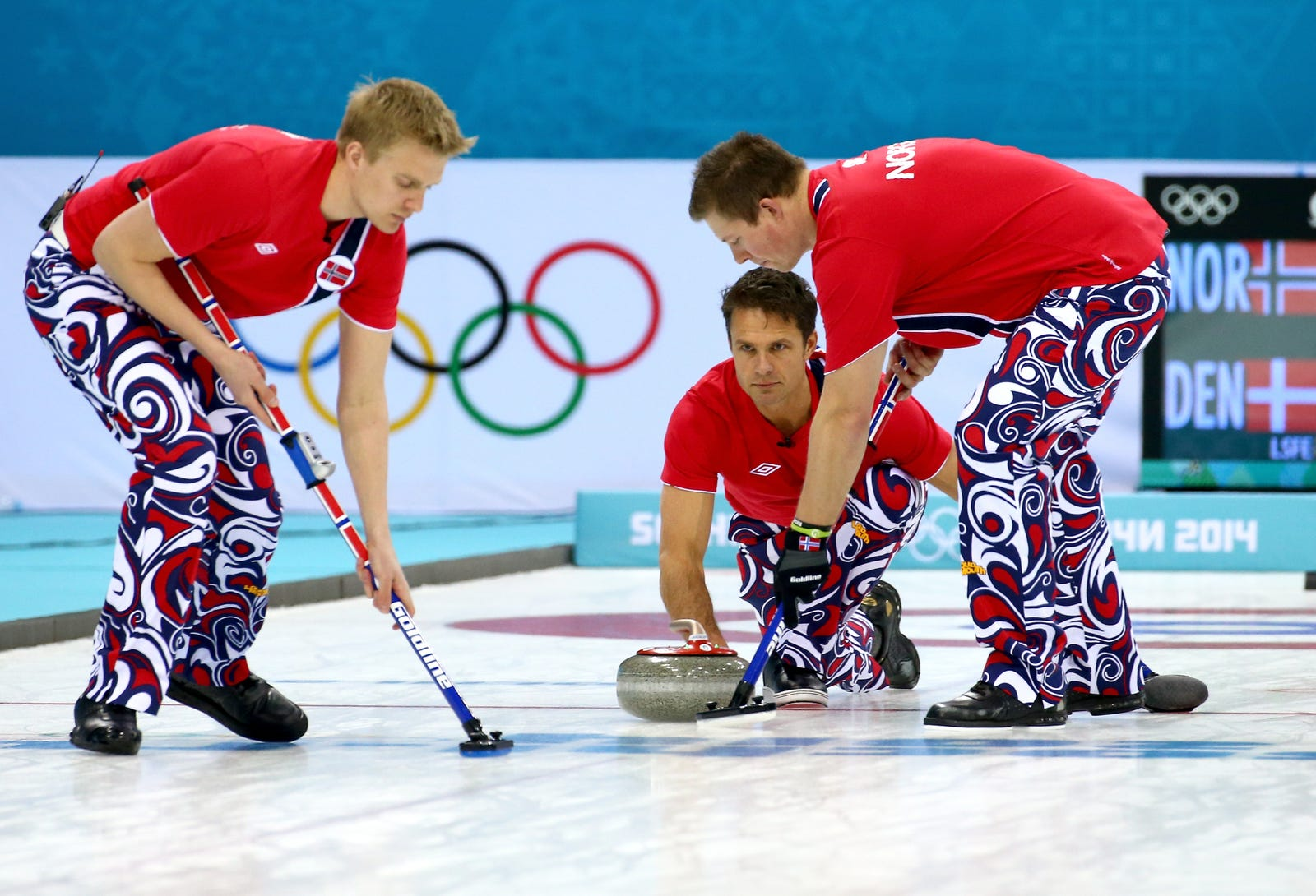 Illustration for article titled Thomas Ulsruds Norwegian Team Is Disbanding After 12 Years Of Curling, 10 Years Of Outrageous Pants