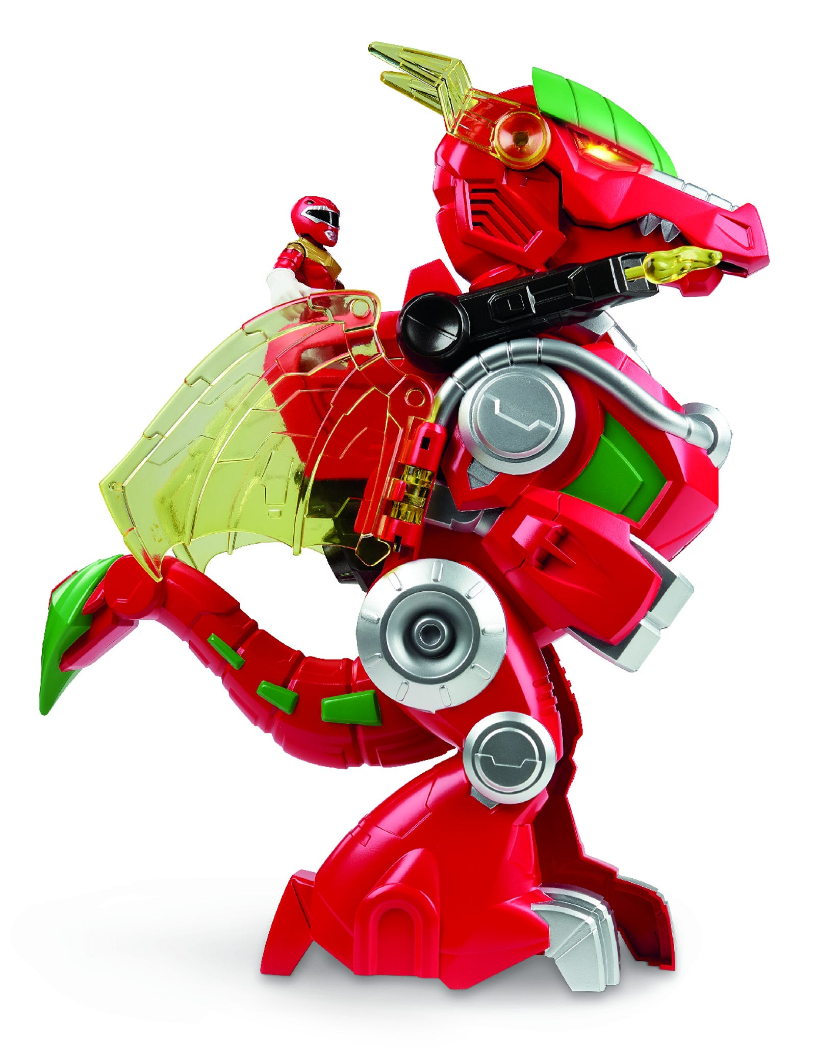 Playskool Heroes' Power Rangers Dragon Thunderzord, complete with Dragon Shield Red Ranger figure.