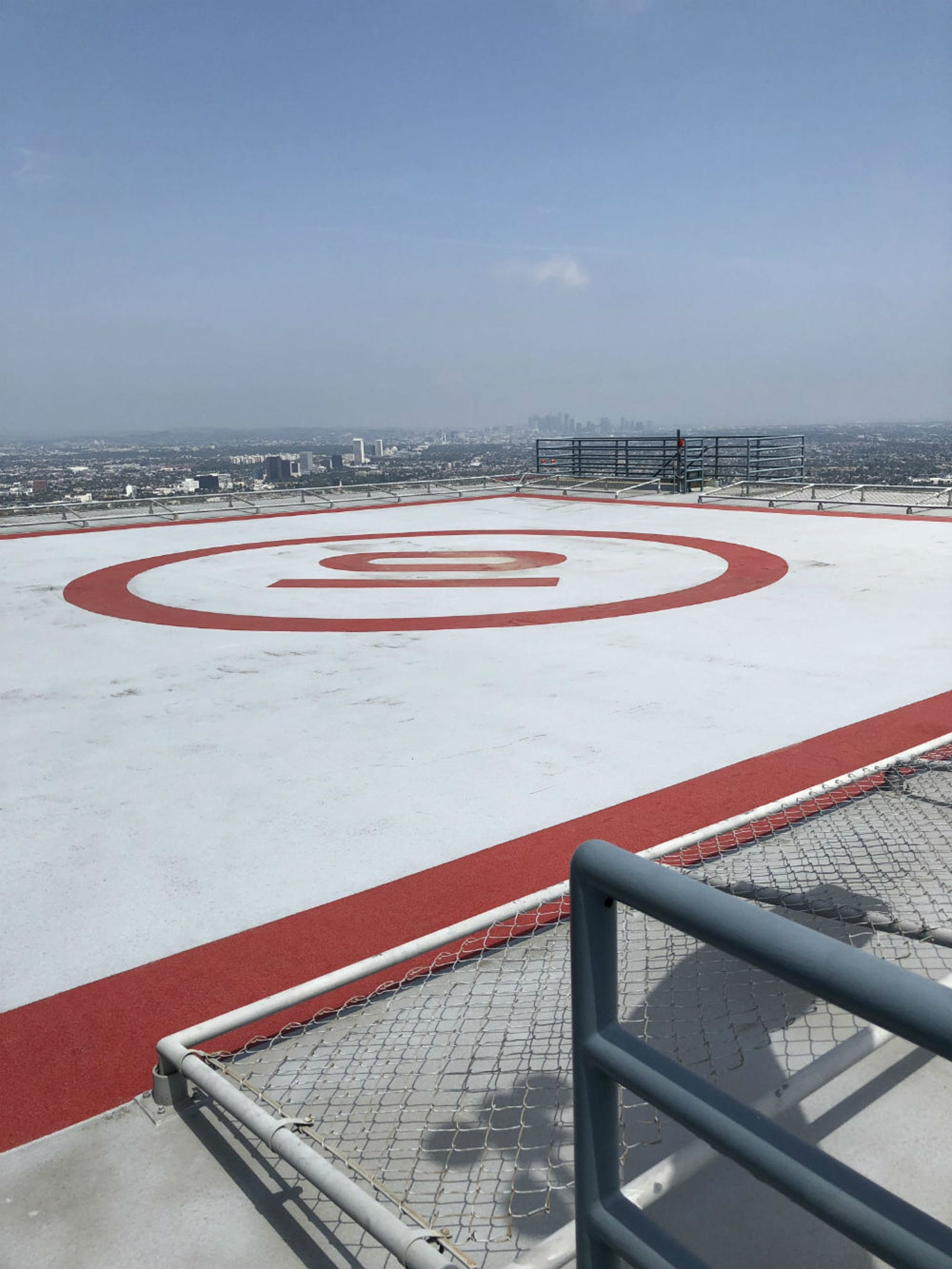 The roof of Nakatomi Plaza, minus explosives.