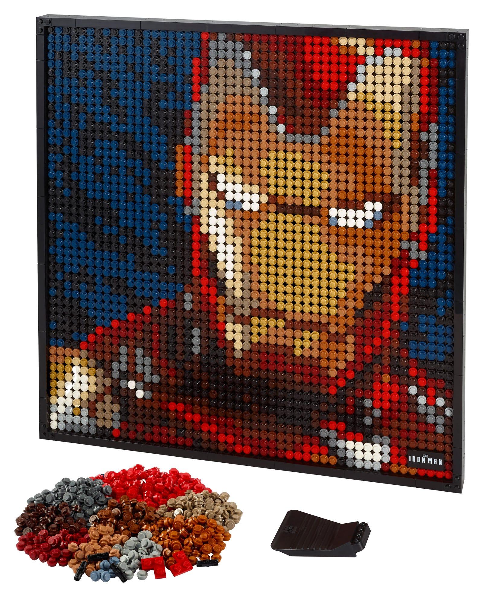 The Lego Art Iron Man.