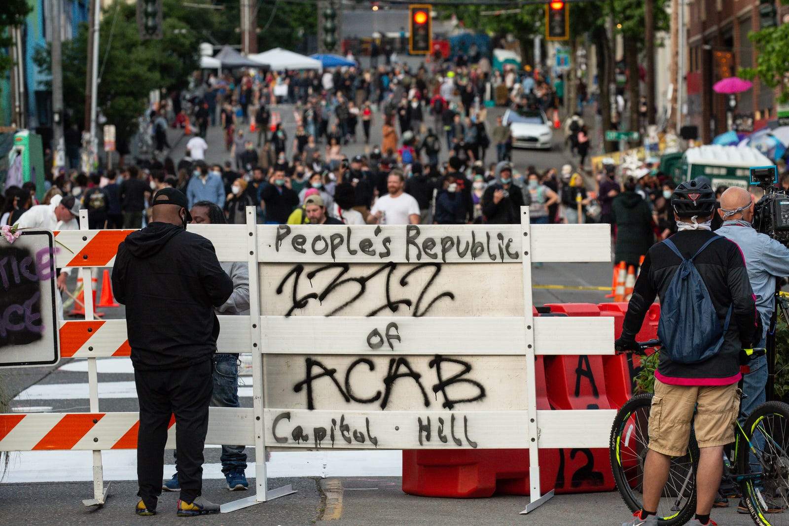 "The so-called ""autonomous zone"" in Seattle, Washington on June 10, 2020."