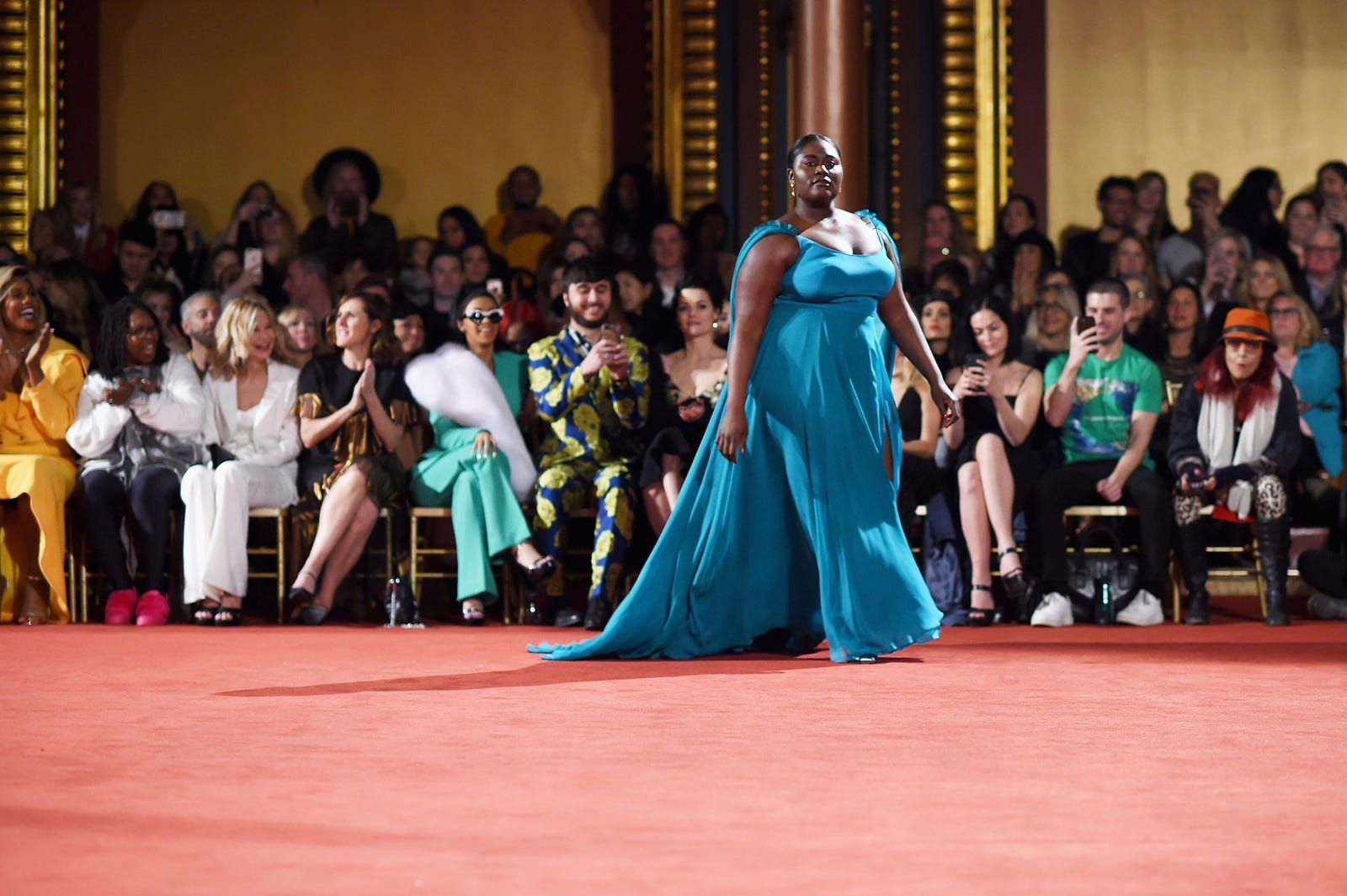 Orange Is the New Black's Danielle Brooks walks the runway for Christian Siriano. (Dimitrios Kambouris/Getty Images)