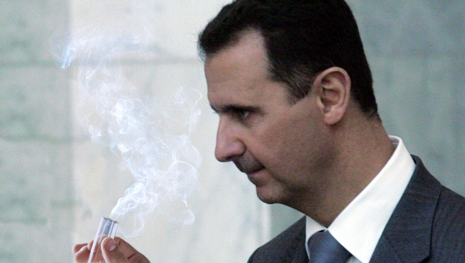 Bashar Al-Assad Tries Tiny Bit Of Sarin Gas On Self To See What It's Like