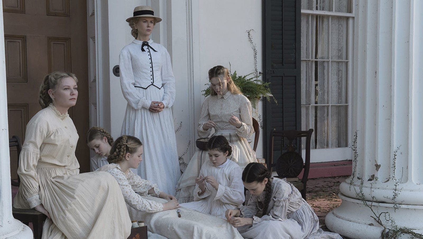 The Beguiled: Set in a breathtaking Virginia manor in 1864, this elegant gothic thriller exposes the hidden dark side of the Civil War–era south