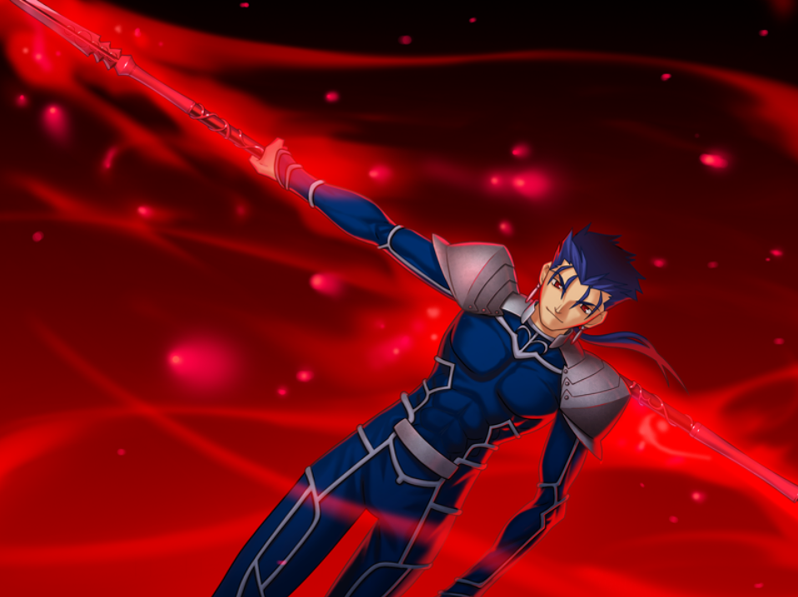 Blue-haired Lycra Irish boy with his pointy stick