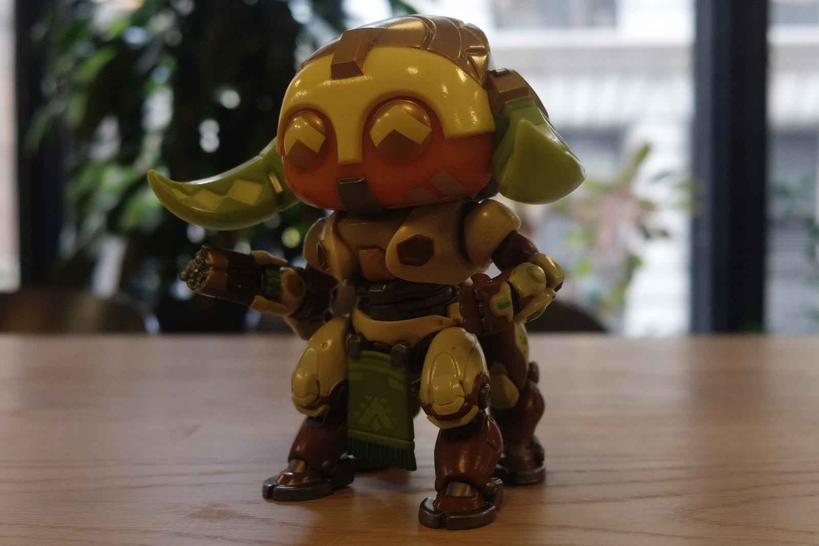Funko Orisa shot with the DxO One, metered for the highlights and cropped for comparison. No other edits made.