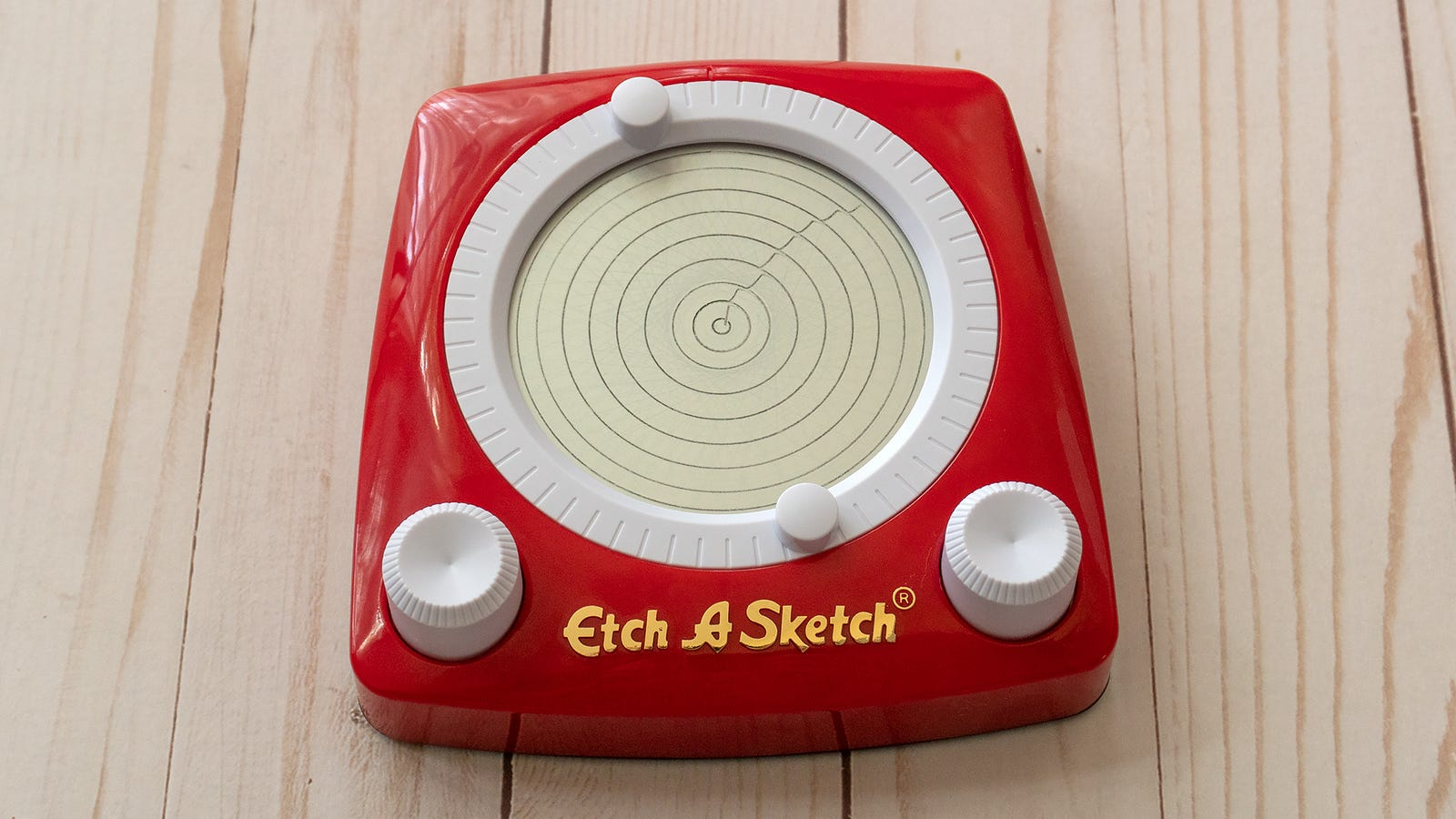 Once a seemingly impossible feat for the Etch A Sketch, perfect circles are the easiest thing to make.