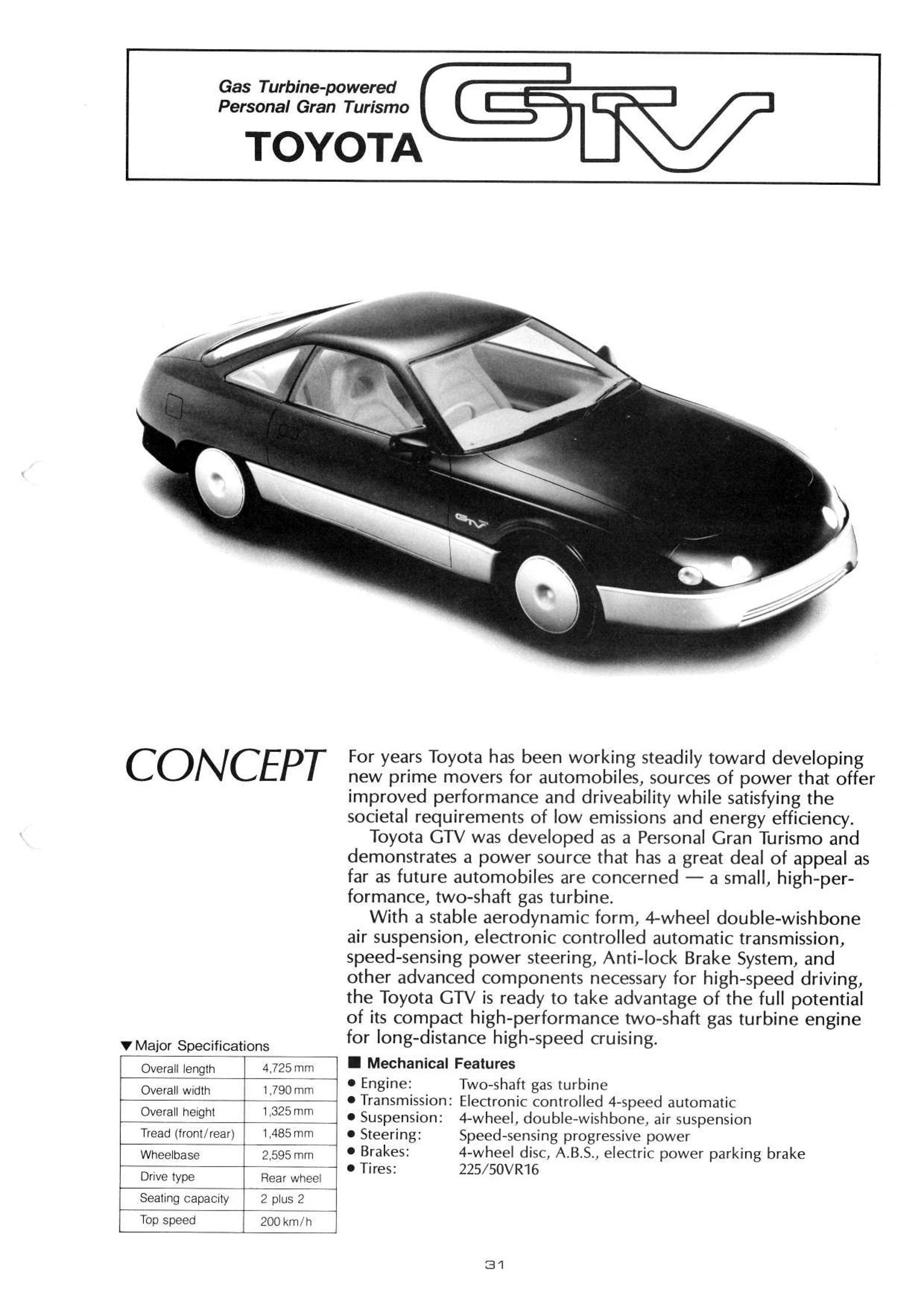 Illustration for article titled Toyota Was So Rich In The 80s It Built A Working Turbine Car