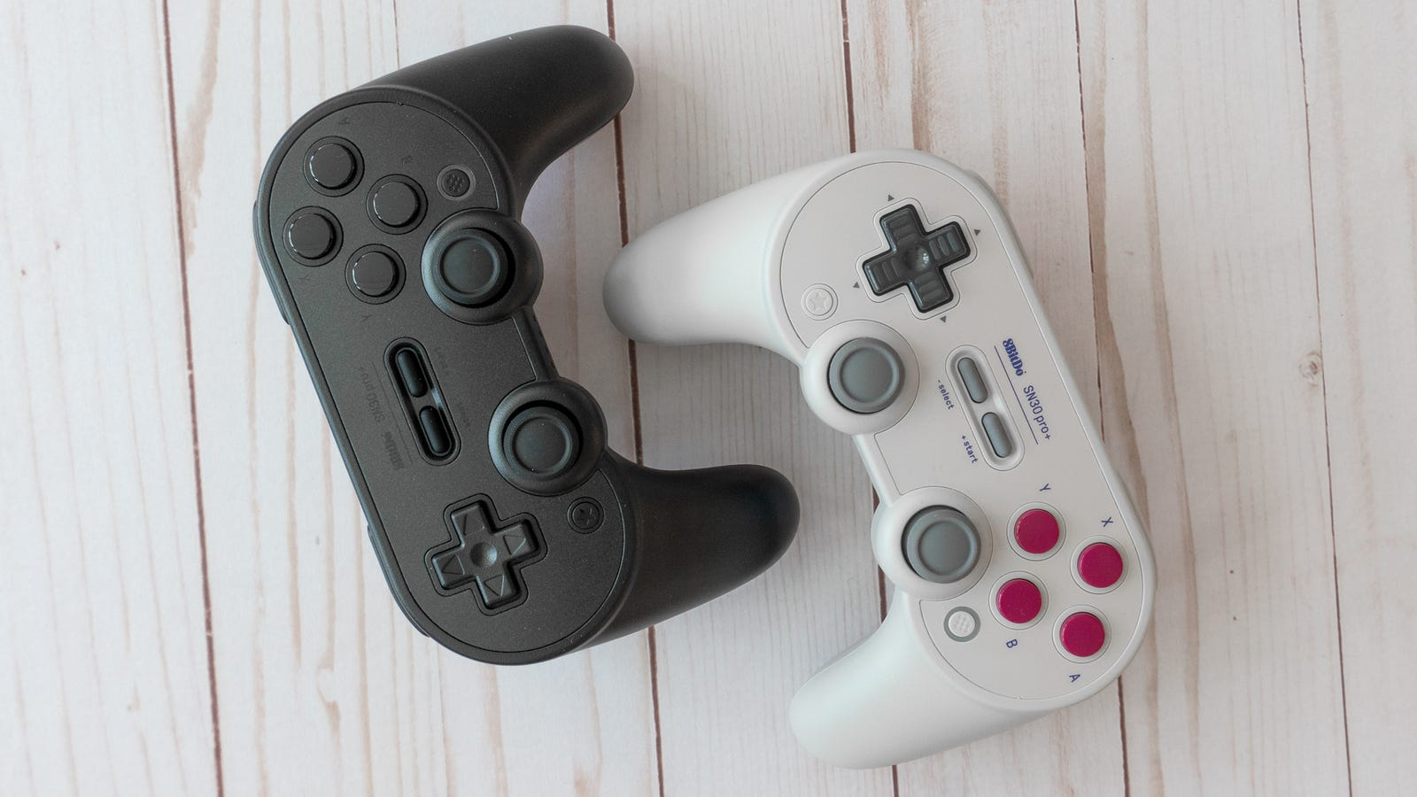 The SN30 Pro+ is available in three colors including an all-black option, and versions mirroring the Game Boy and SNES' button colors.