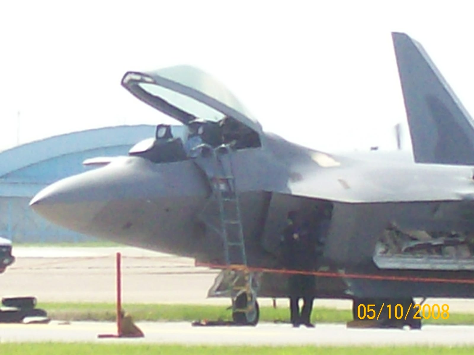 F-22A Raptor. Whole reason for coming to the show, right there.