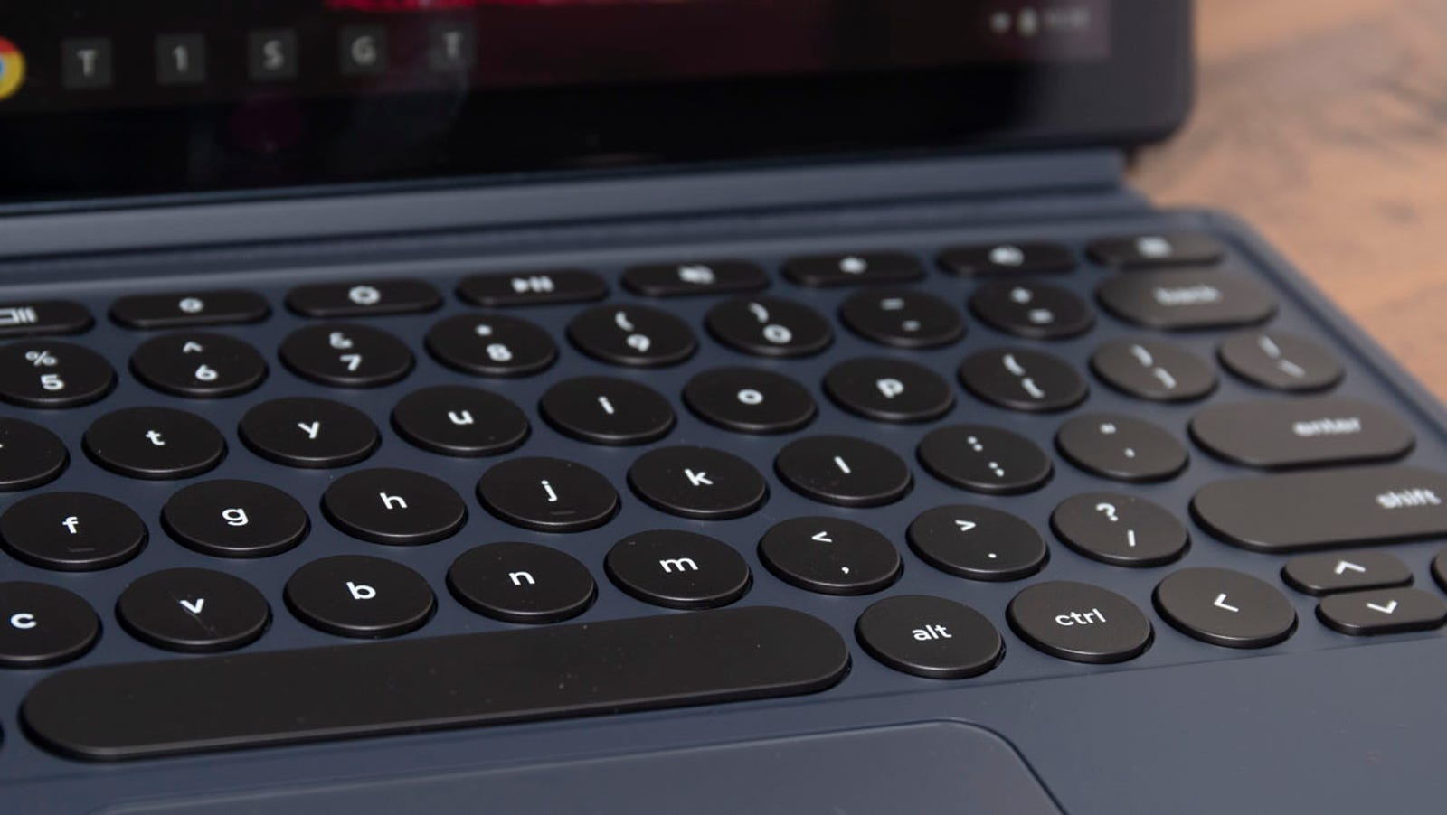 Google made a big deal about the rounded keys of the Pixel Slate, and they're surprisingly nice, but still not as good as the old-fashioned SA-profile keys they're designed to imitate.