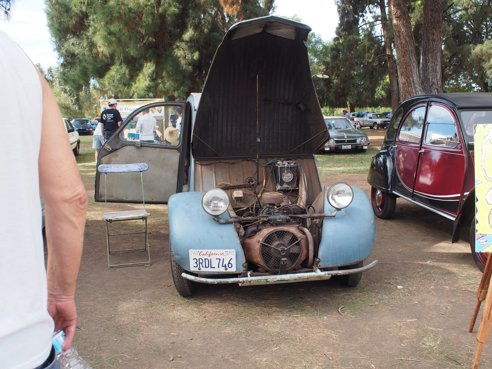 This all original 1958 2CV has what I think is the oldest battery in a running car that I've ever seen.