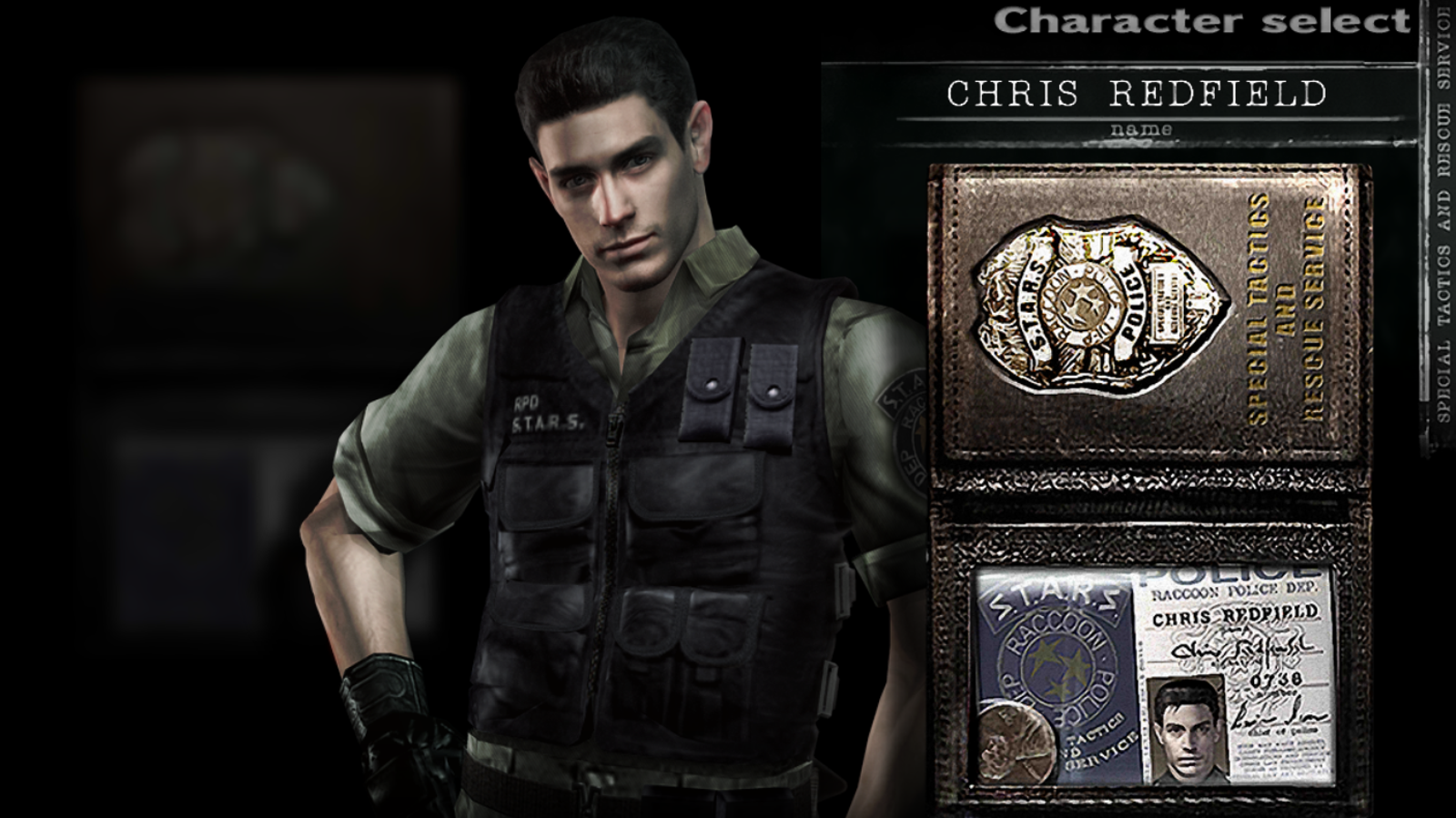 Chris Redfield in Resident Evil (2002).