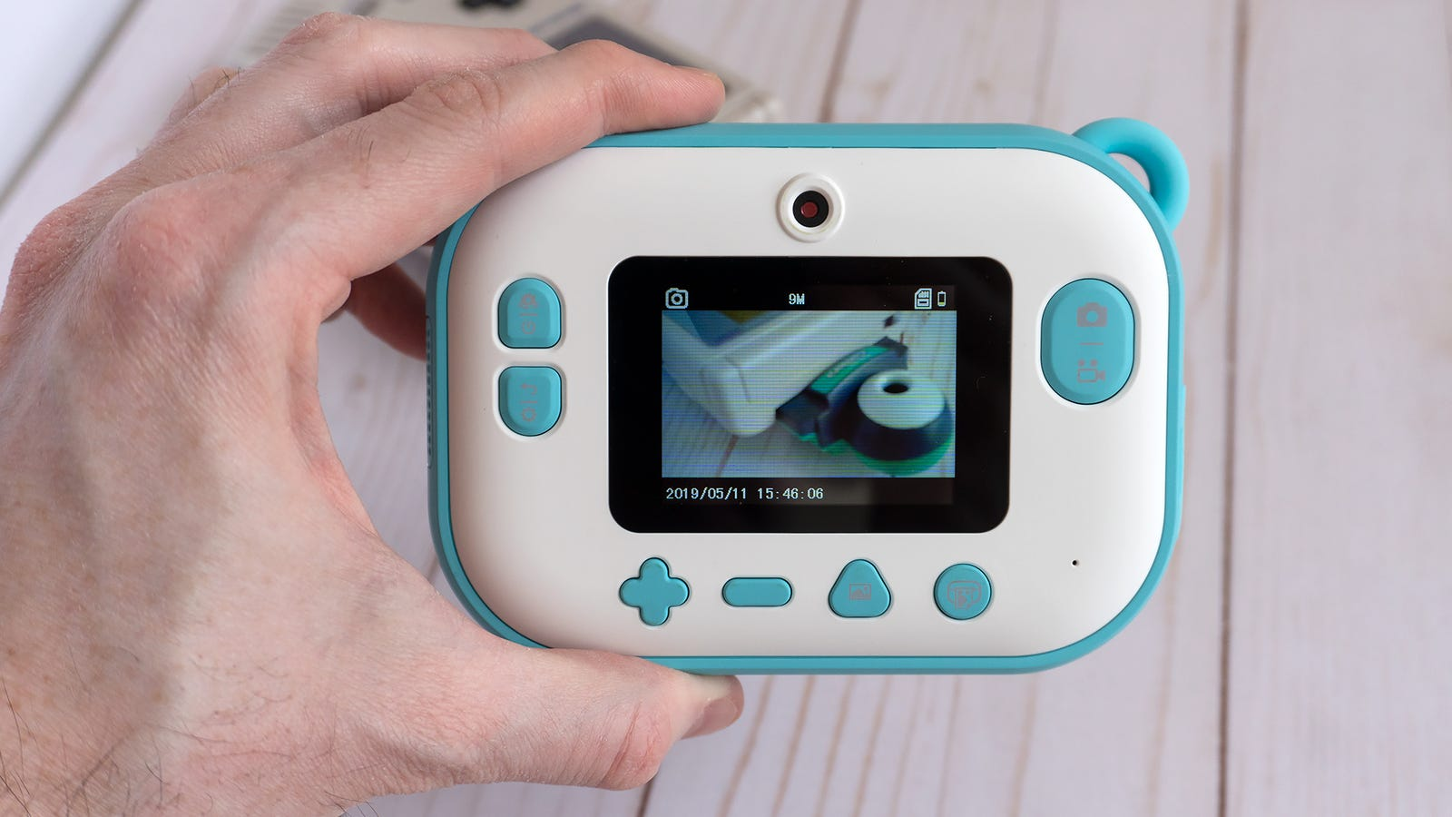 The myFirst Camera Insta 2's chunky design is kind of cute, but also necessary to accommodate a thermal printer and a roll of paper.