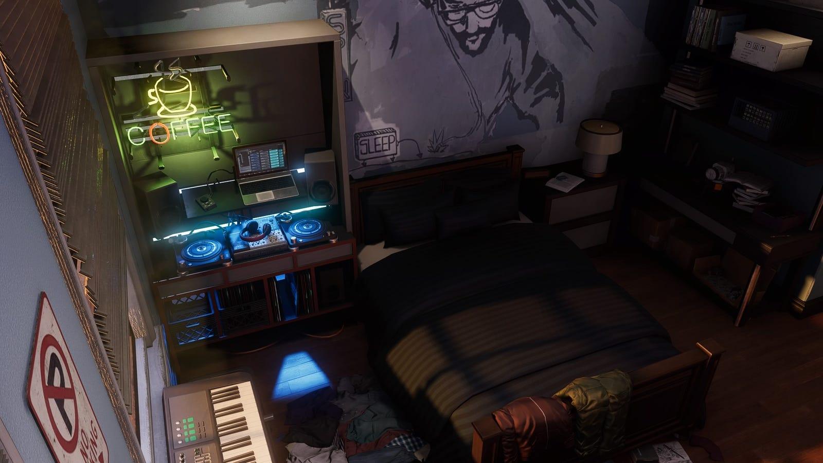 Miles' bedroom.