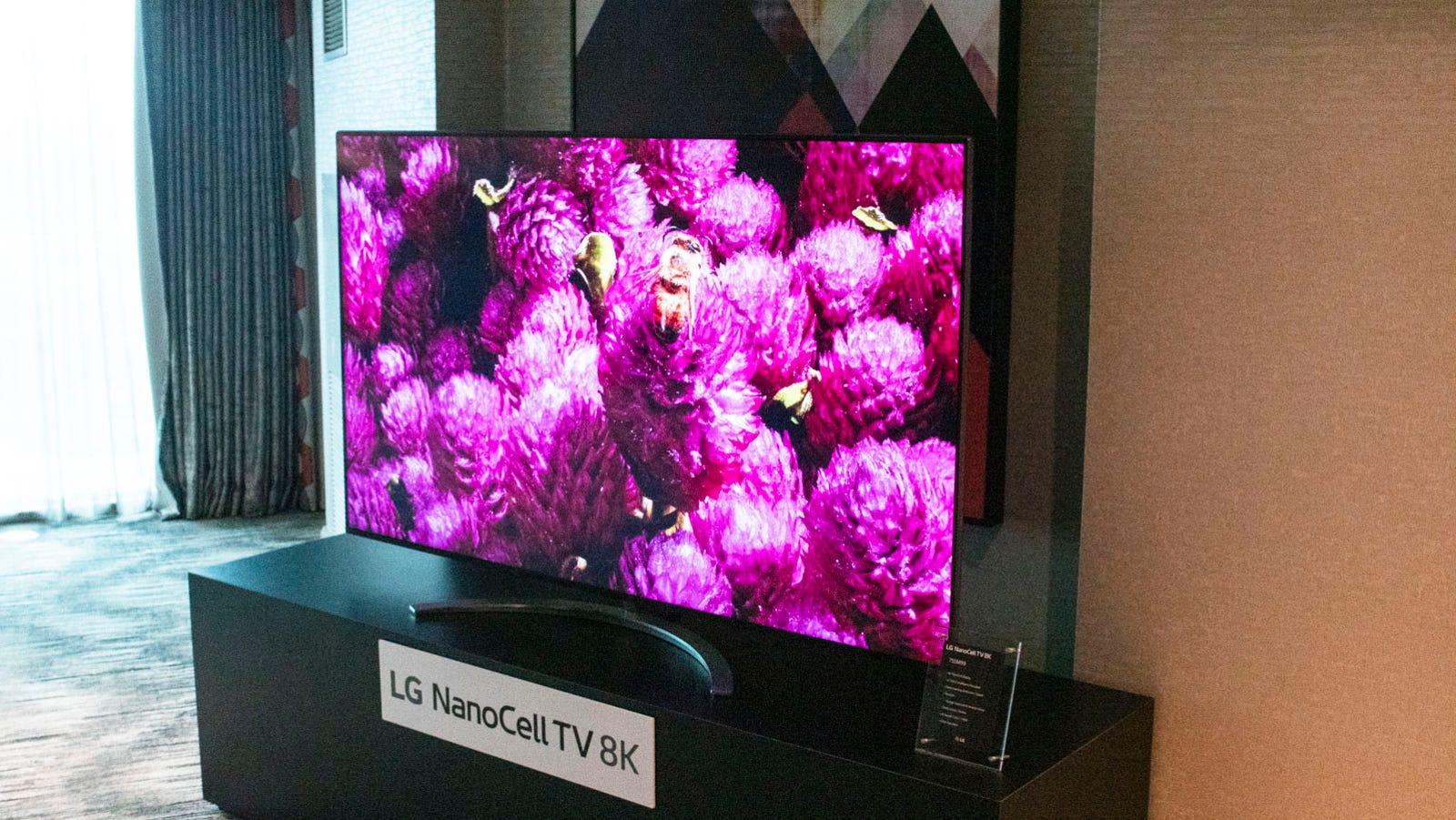 LG's 8K LED TV.
