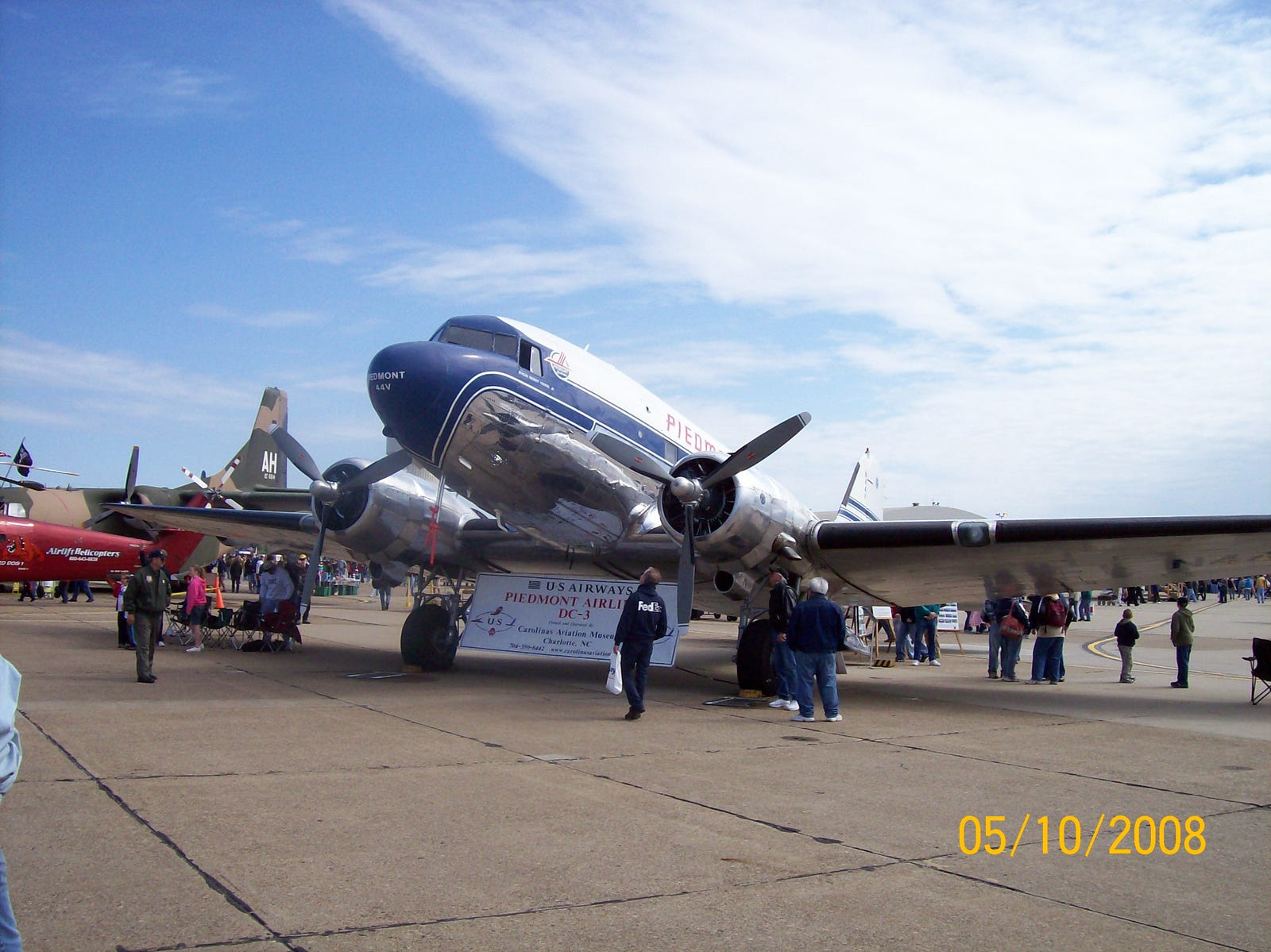 Piedmont Airlines stared in 1948 with DC-3s, and merged into USAir (later US Airways) in 1989