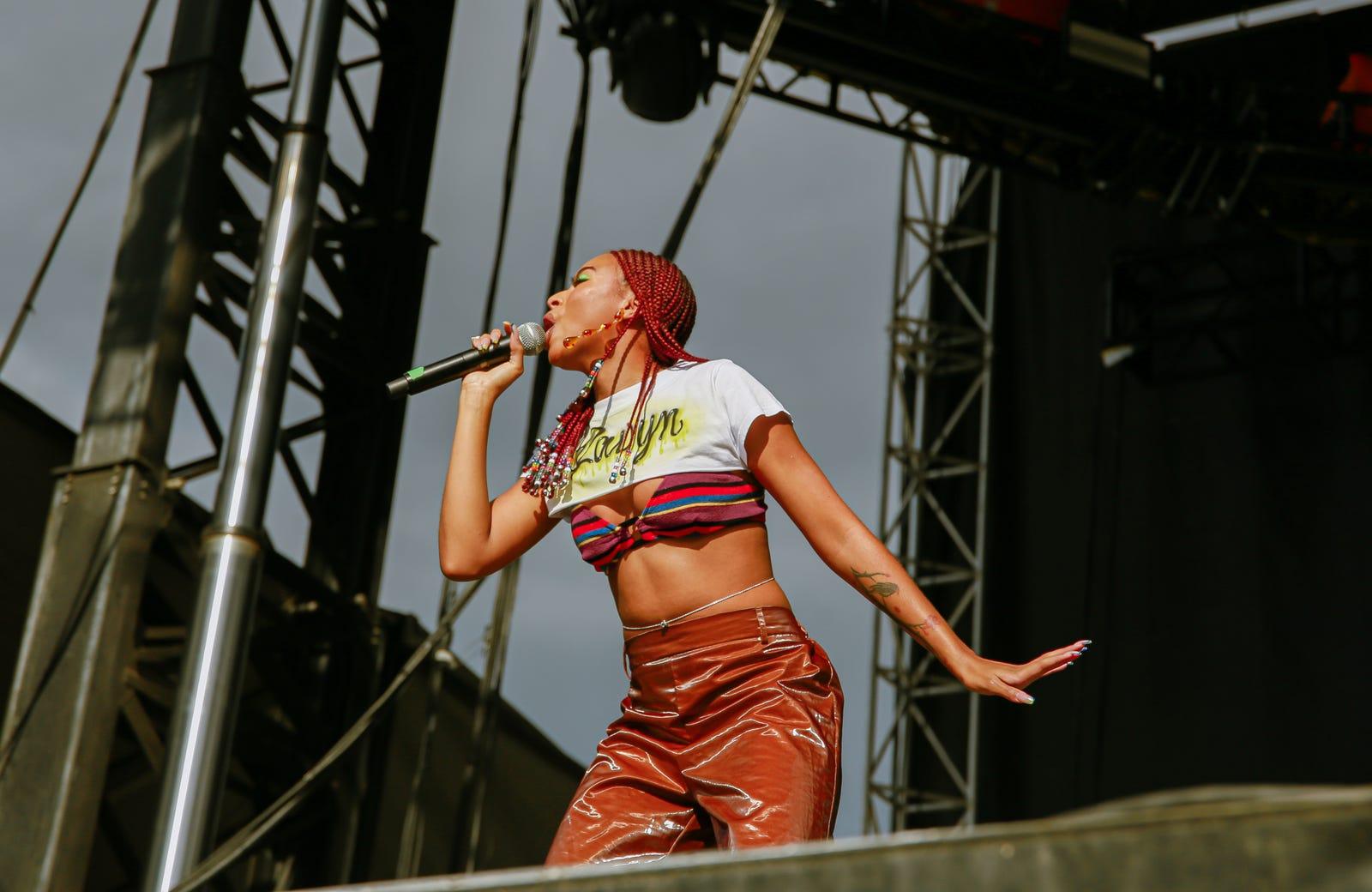 Ravyn Lenae performing at AfroPunk Brooklyn 2019.