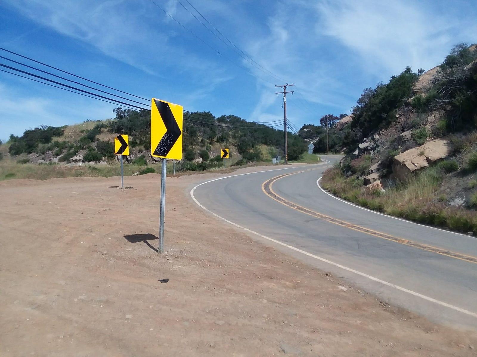 Our drive included Latigo Canyon and Piuma Road