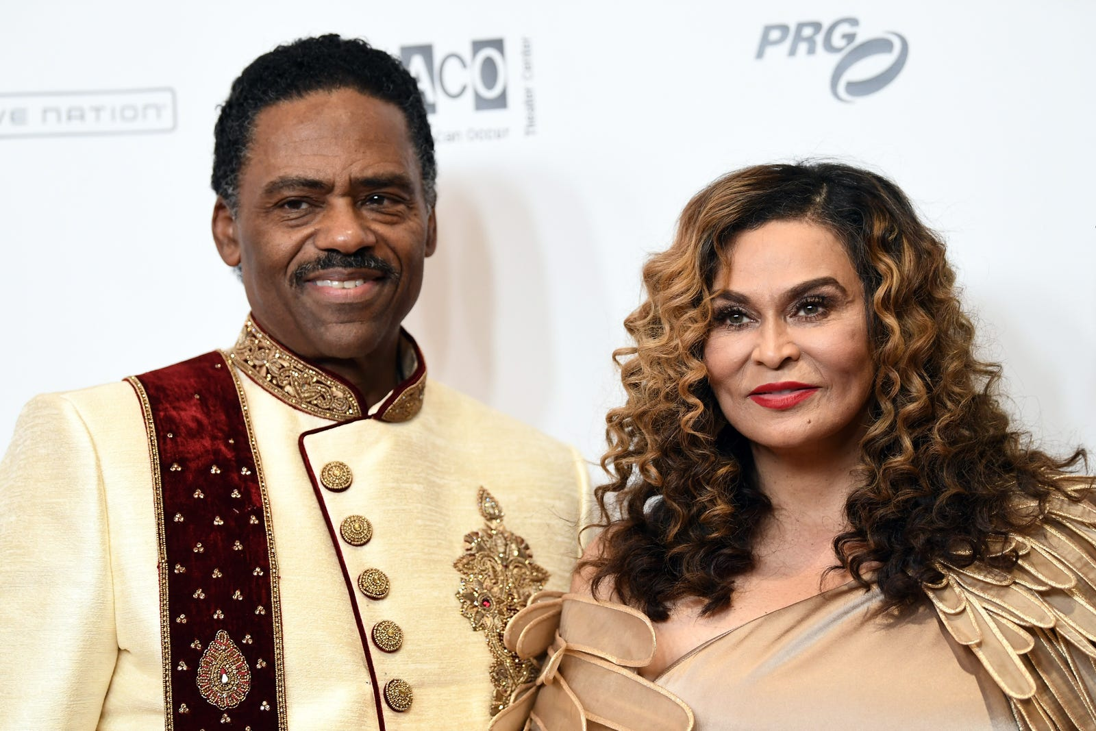 Richard Lawson and Tina Knowles Lawson host WACO Theater's second-annual Wearable Art Gala on March 17, 2018, in Los Angeles. (Emma McIntyre/Getty Images)