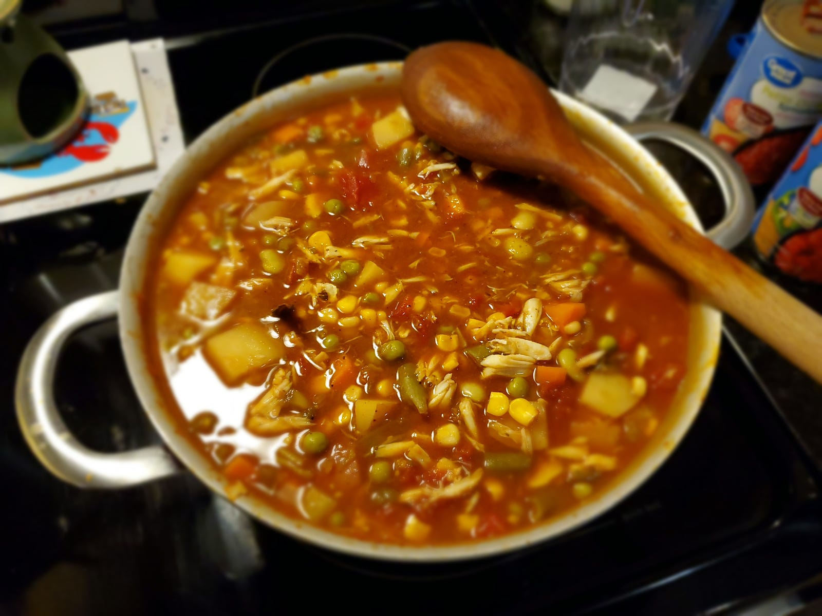 Soup! These pictures are in the wrong order, but whatever.