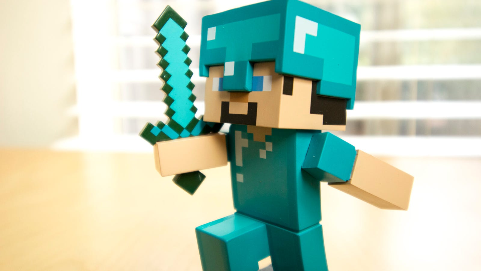 You can't go wrong with good old Diamond Steve. While staying true to texture, the Minecraft adventure figures give the characters' bodies a slight curve, adding a sense of momentum to the stationary toys. He is charging towards a thing, and that thing is probably adventure.