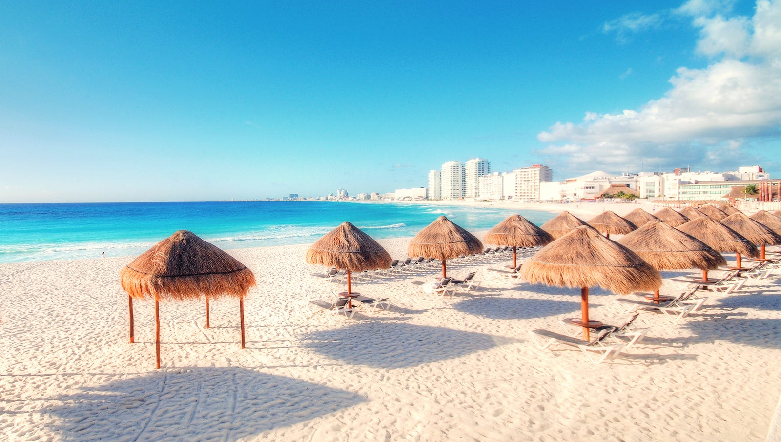 Cancun: This picturesque locale's perfect climate and sandy beaches have been attracting the worst white people in the world since the 16th century.
