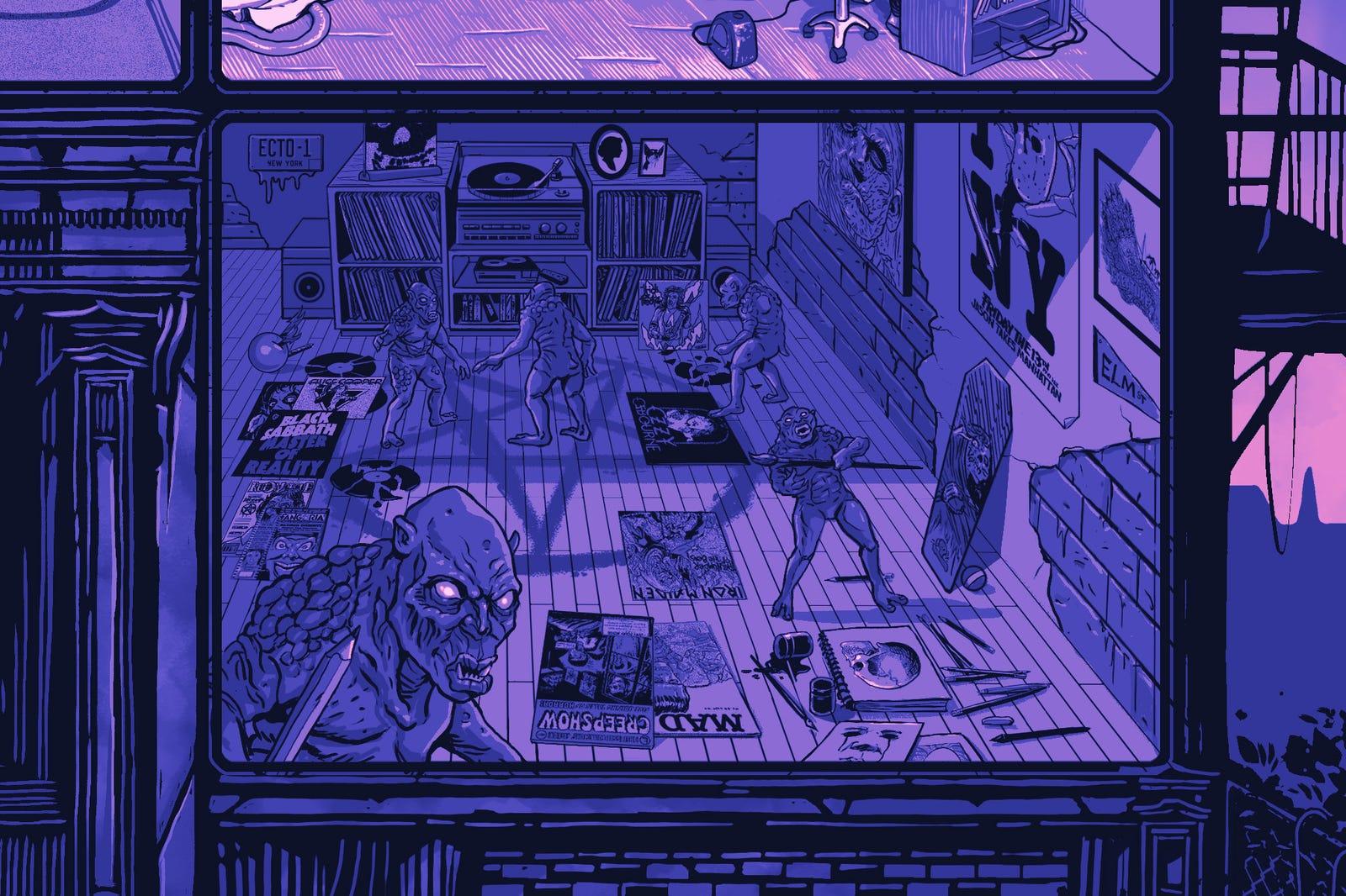 Gary Pullin's room.