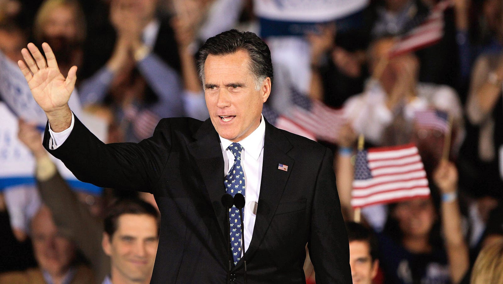 Romney Thanks State He Was Born And Raised In For Just Barely Giving Him Enough Votes To Beat Total Maniac