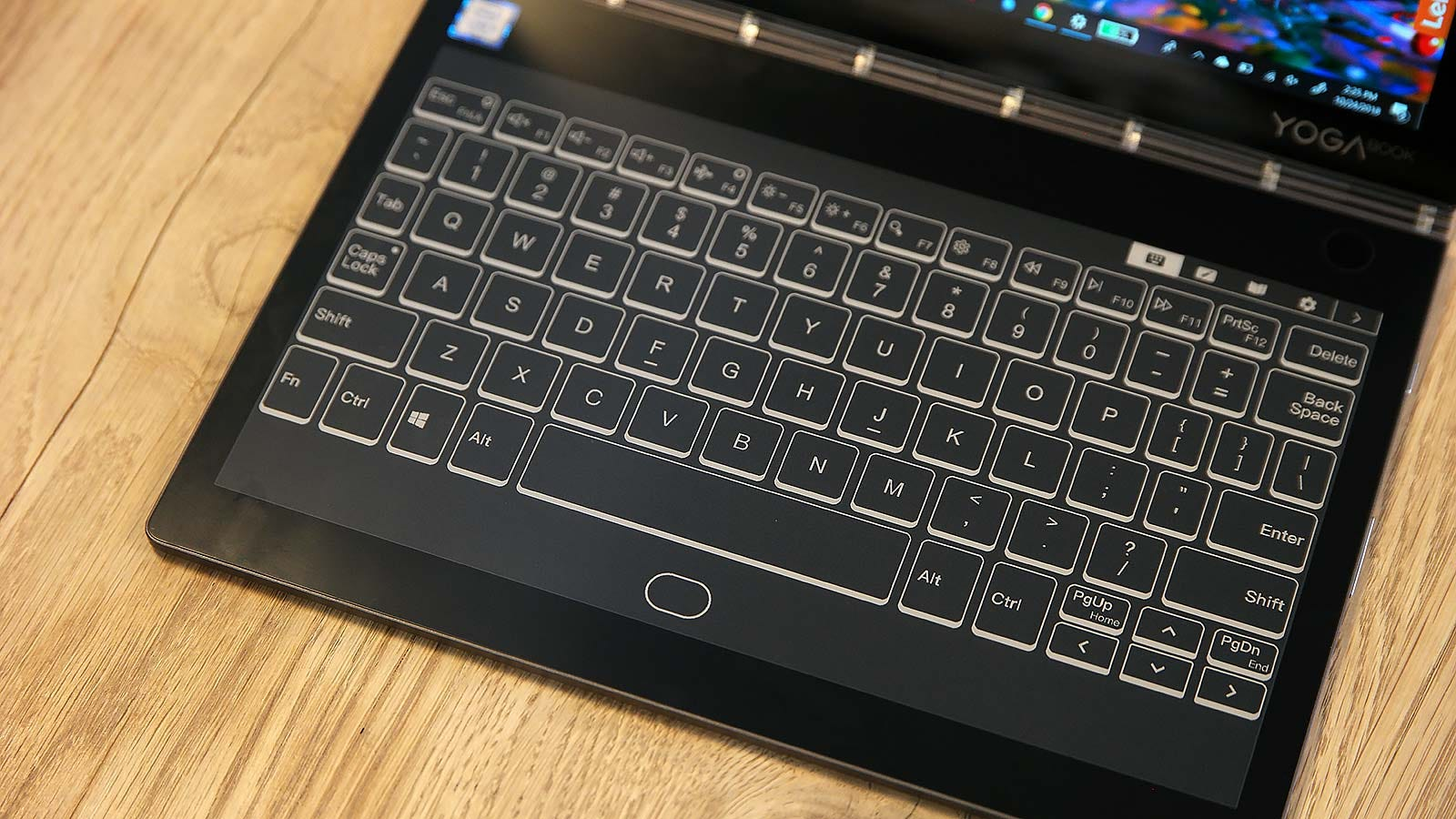 Here's the Modern keyboard layout. Note how there's no touchpad.