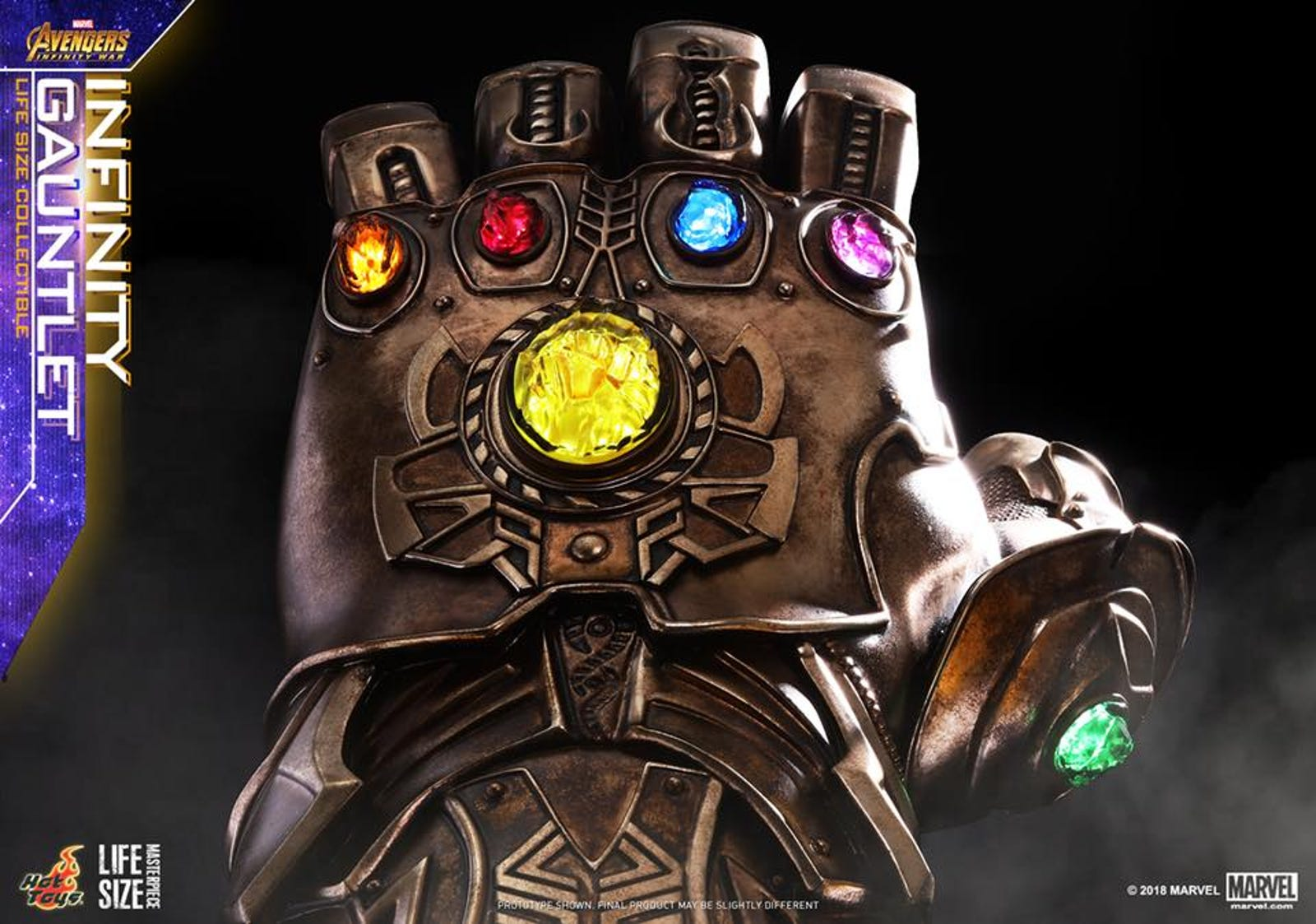 Thanos' Infinity Gauntlet from Avengers: Infinity War. Photo: Hot Toys