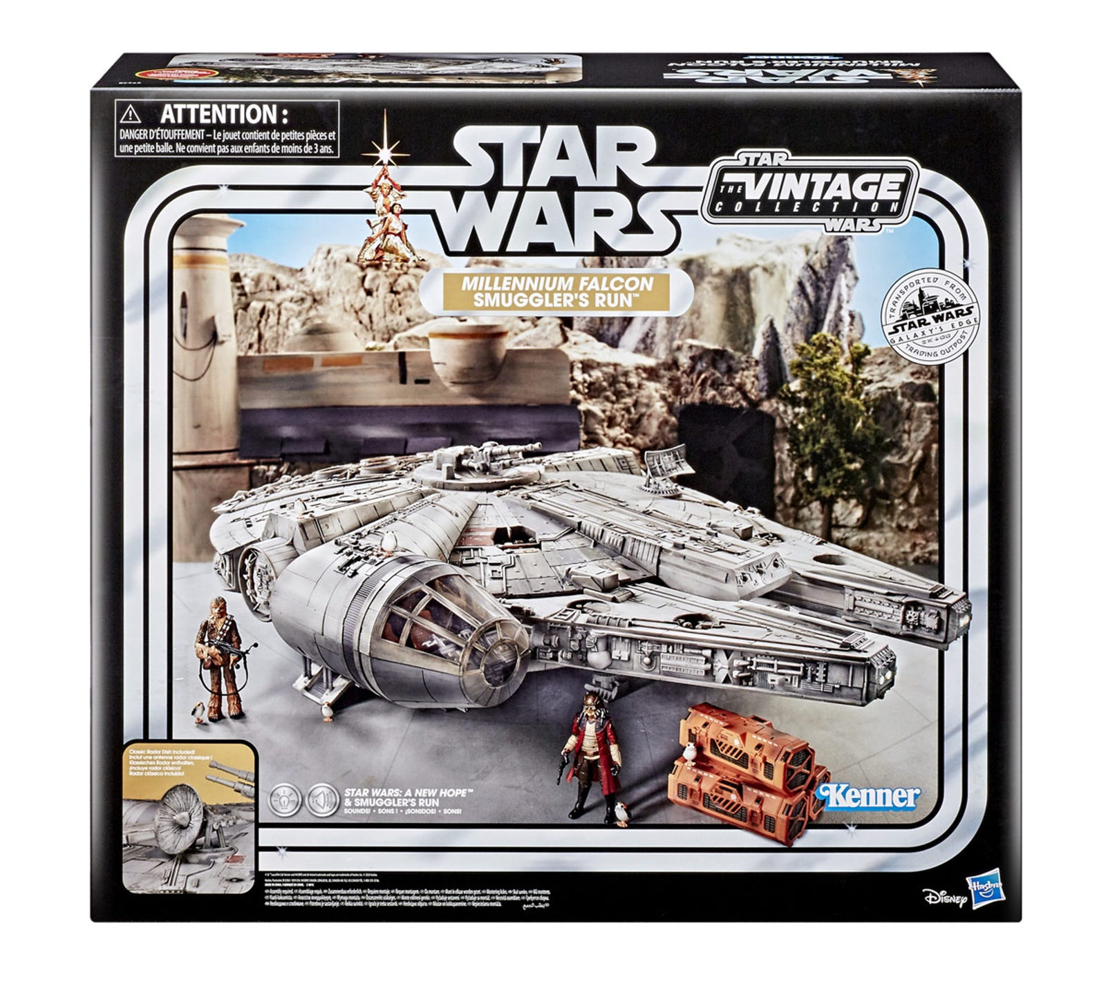 Star Wars The Vintage Collection Galaxy's Edge Millennium Falcon Smuggler's Run, which retails for $400.