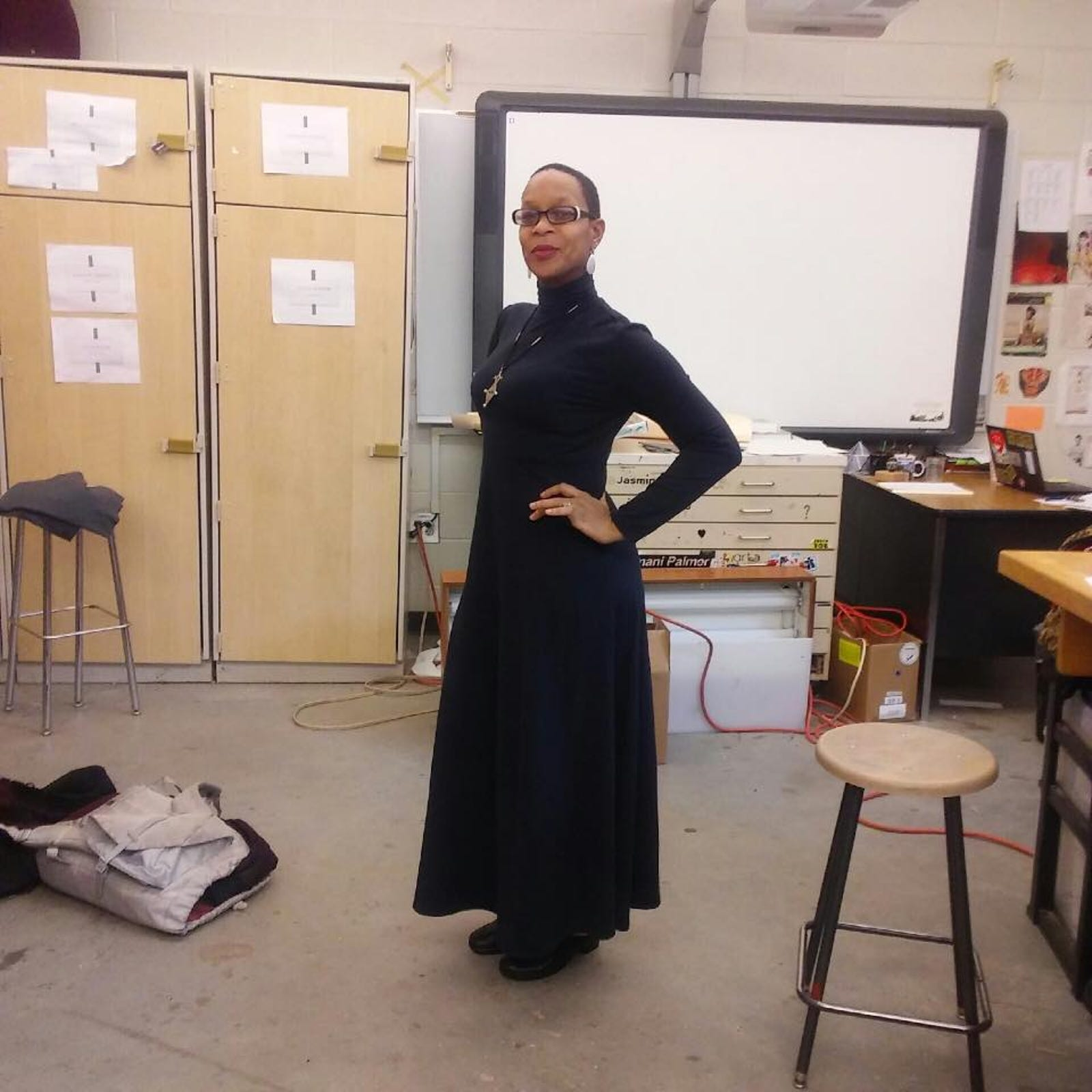 V. Kottavei Williams, head of Grady High School's Fashion Marketing Pathway Program.