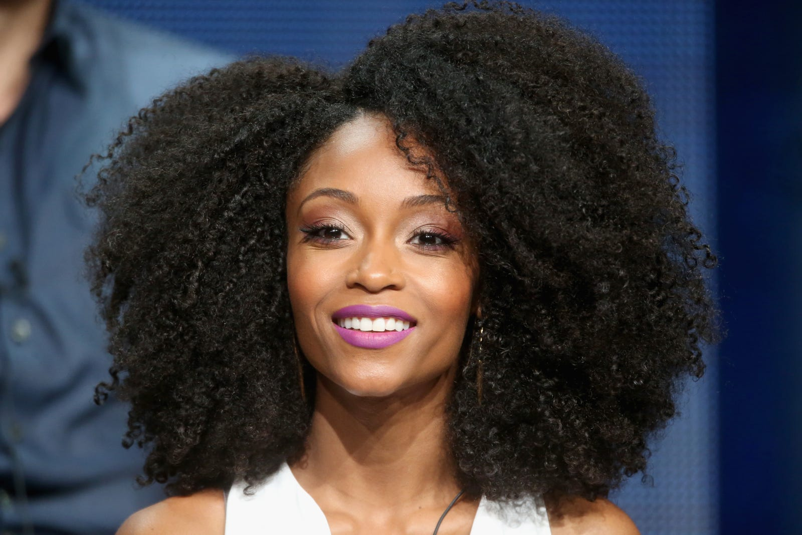 Yaya DaCosta rocks her formerly full mane during NBC's Chicago Med panel discussion  Aug. 13, 2015. (Frederick M. Brown/Getty Images)