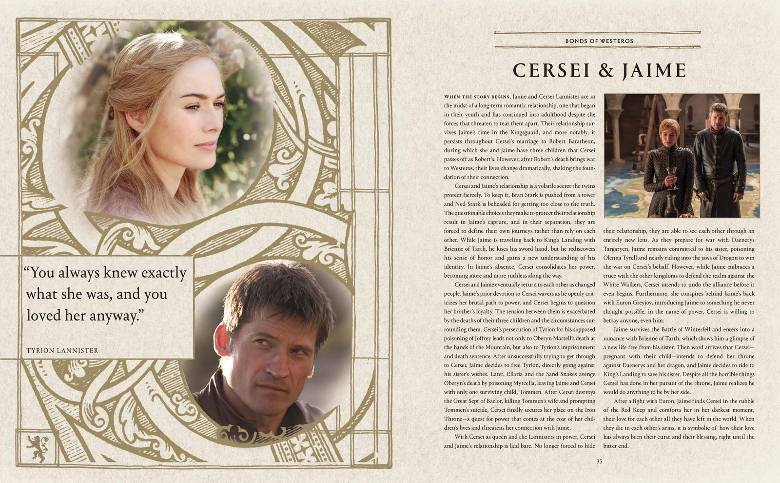 Take a look at just some of the essays and infographics found inside A Guide to Westeros and Beyond.